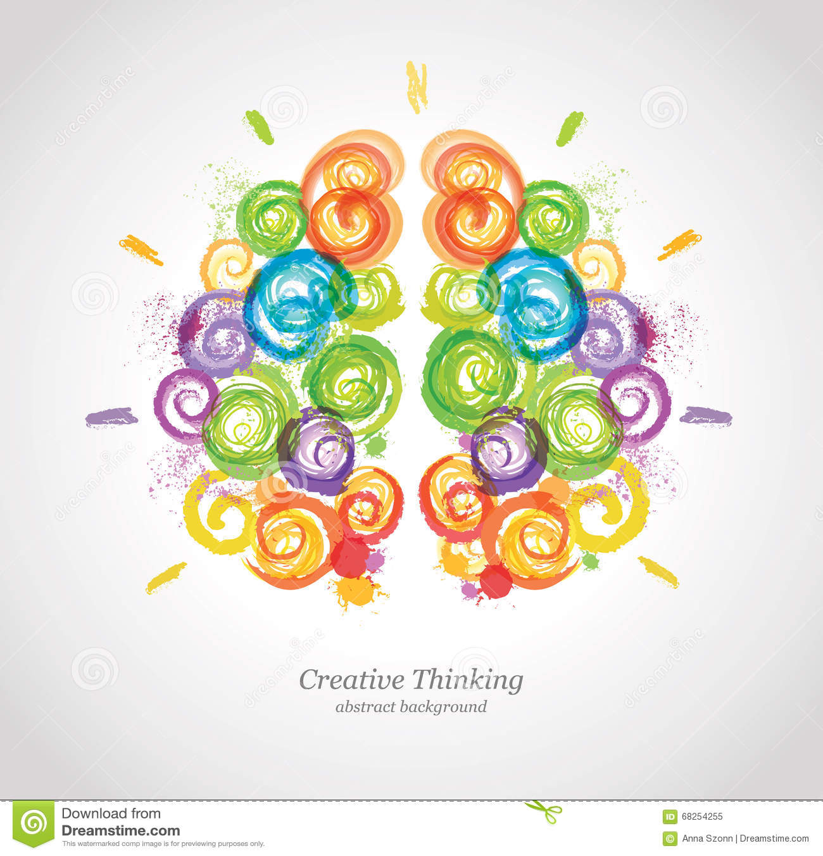 Cervello umano creativo nel lavoro