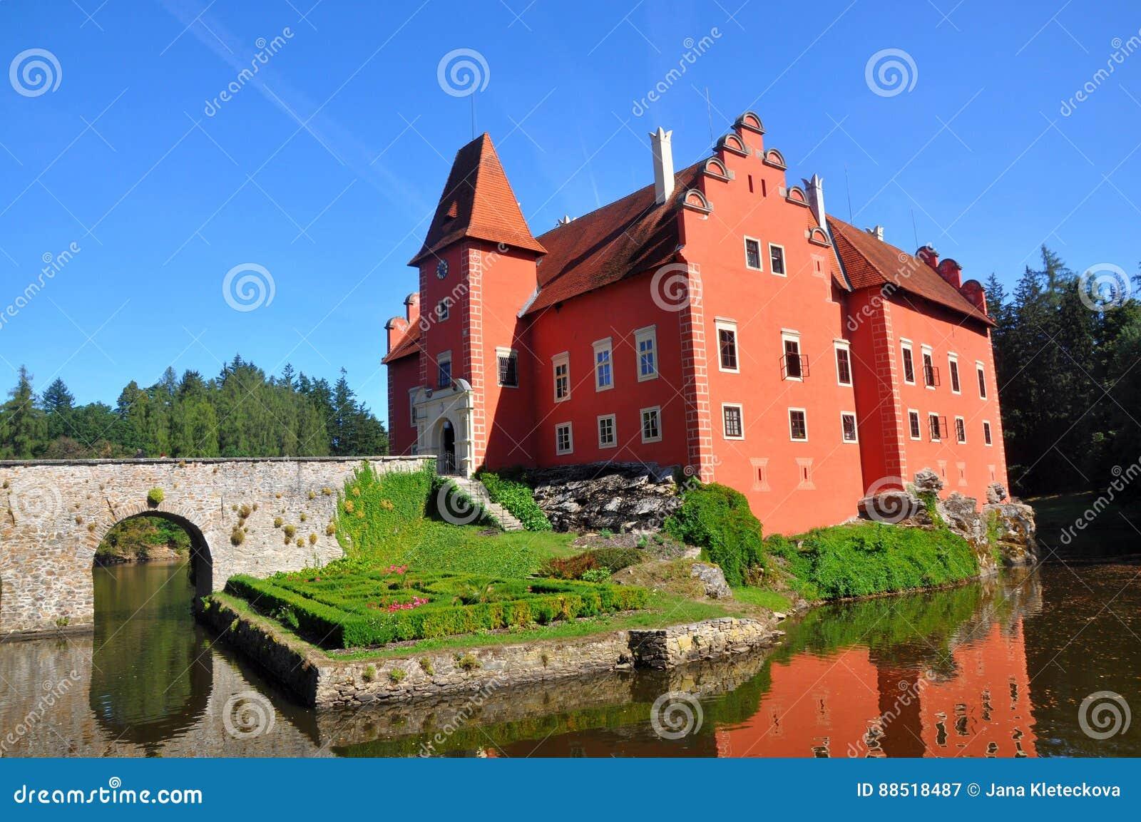"""Cervena rode kasteel van Lhota †het """"in Zuid-Bohemen, Tsjechische republiek"""