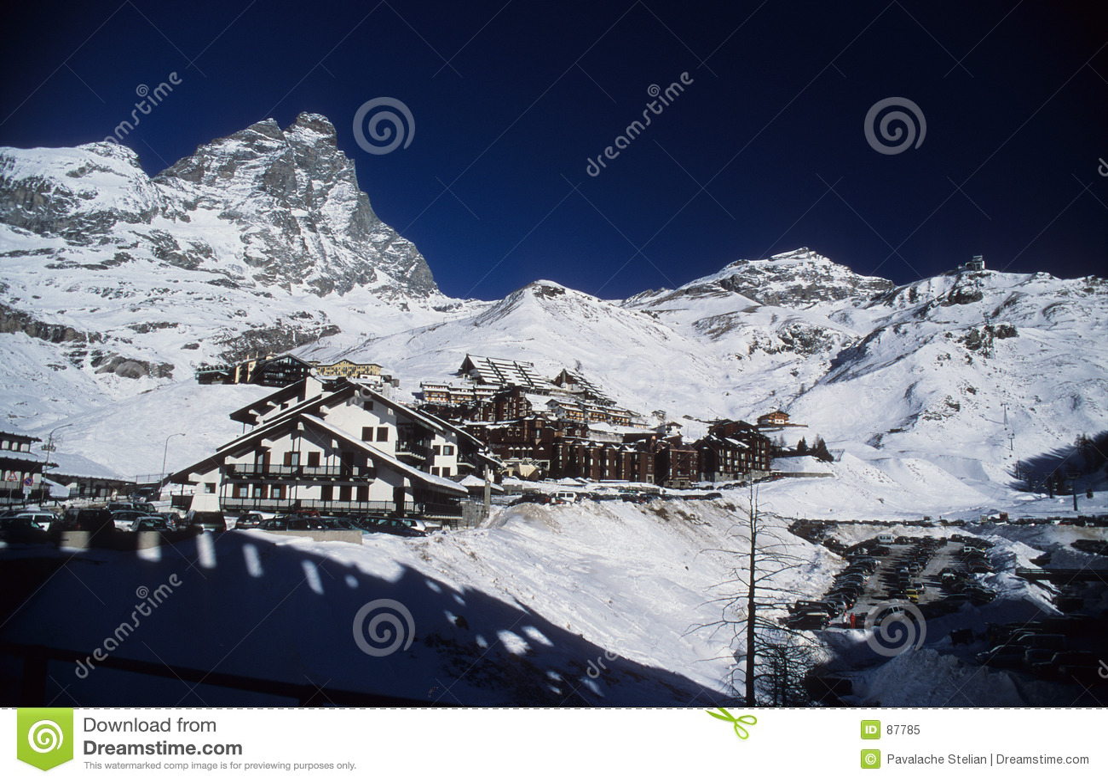 Cervinia mount Matterhorn obszaru