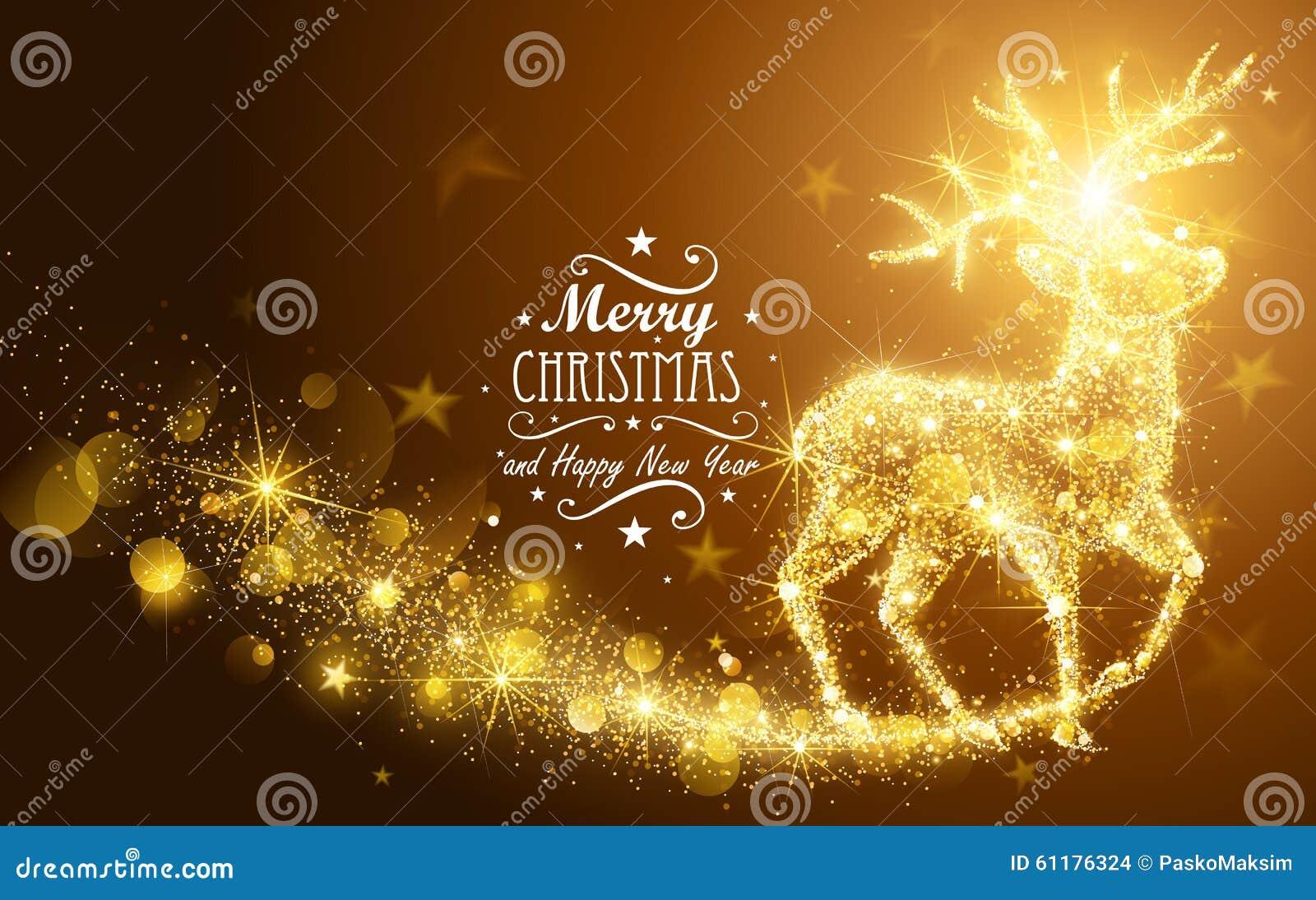 Cervos da mágica do Natal