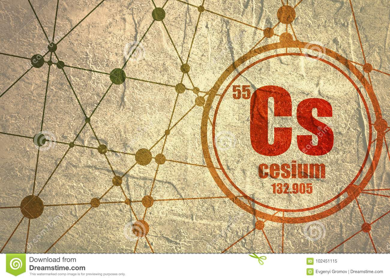 Cesium Chemical Element. Stock Illustration. Illustration