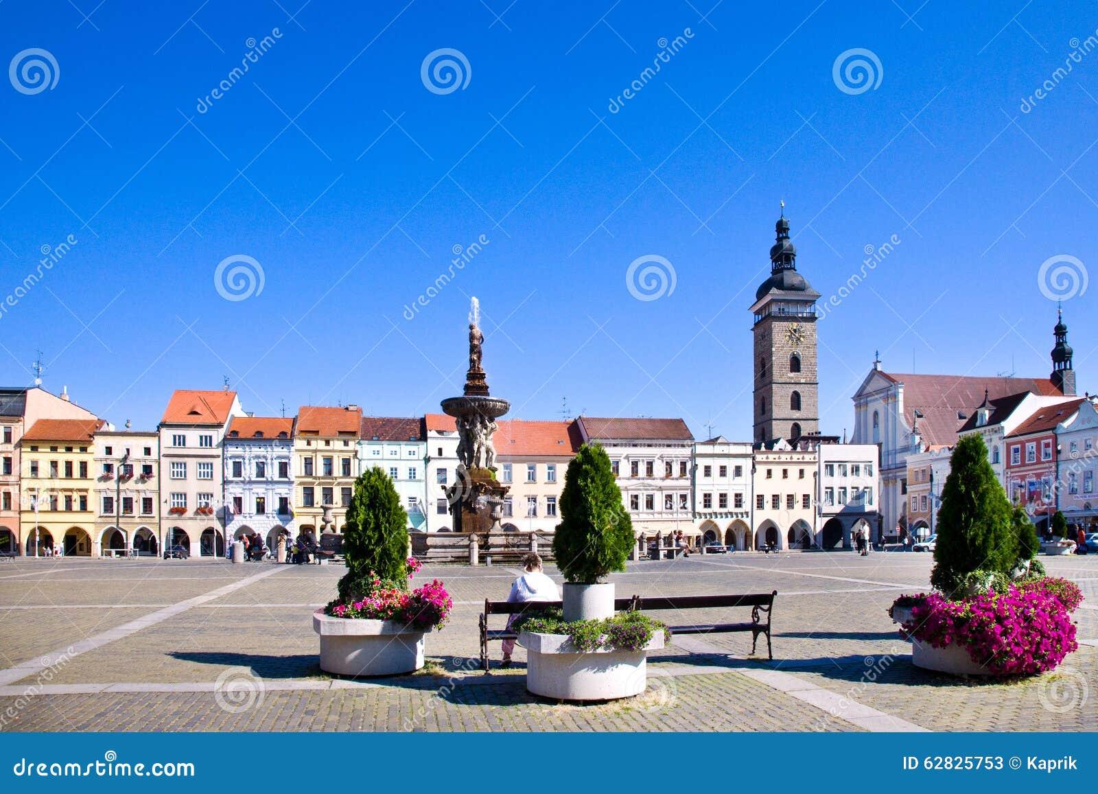 Ceske Budejovice Czech Republic  city photos gallery : CESKE BUDEJOVICE, CZECH REPUBLIC JULY 15 Premysl Otakar square and ...