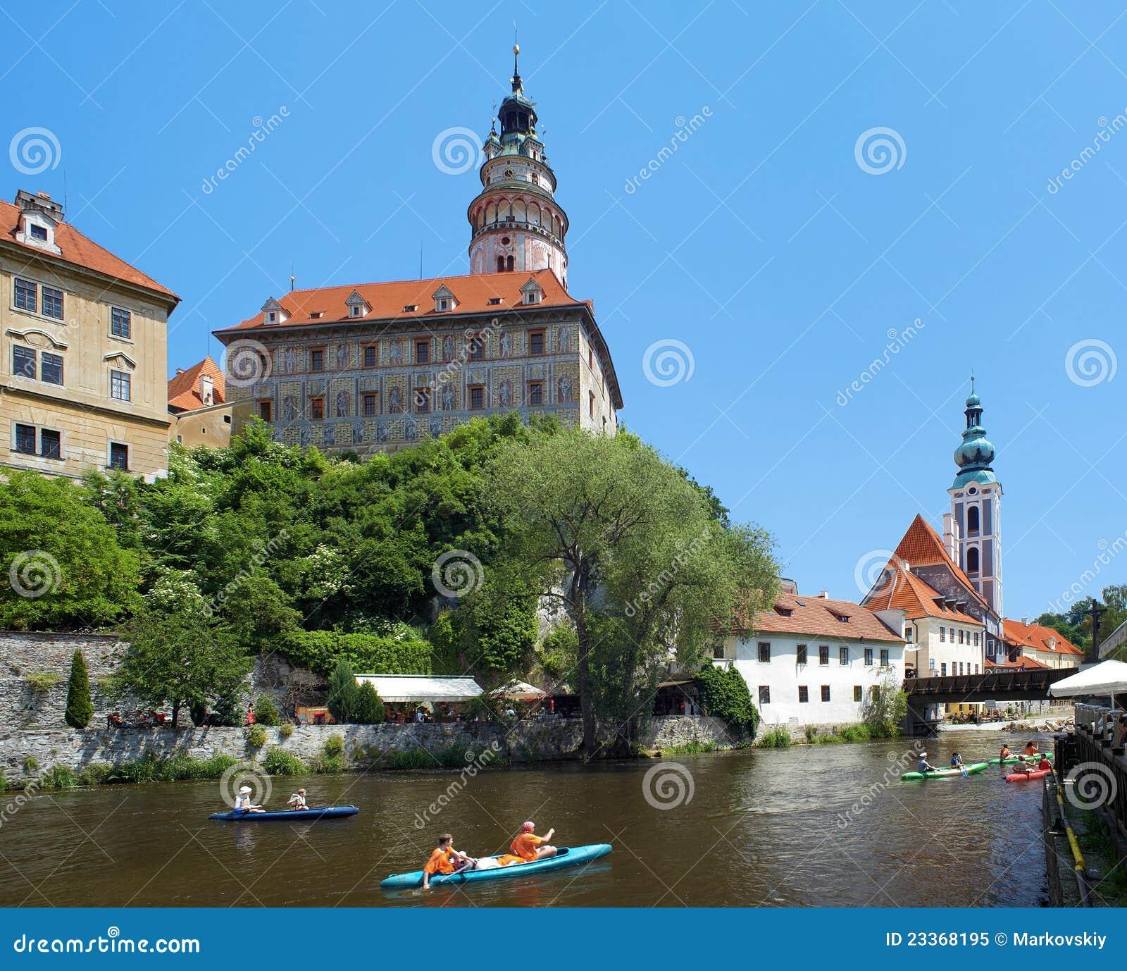 Cesky krumlov castle and rafting on vltava river editorial for Designhotel elephant prague 1 czech republic