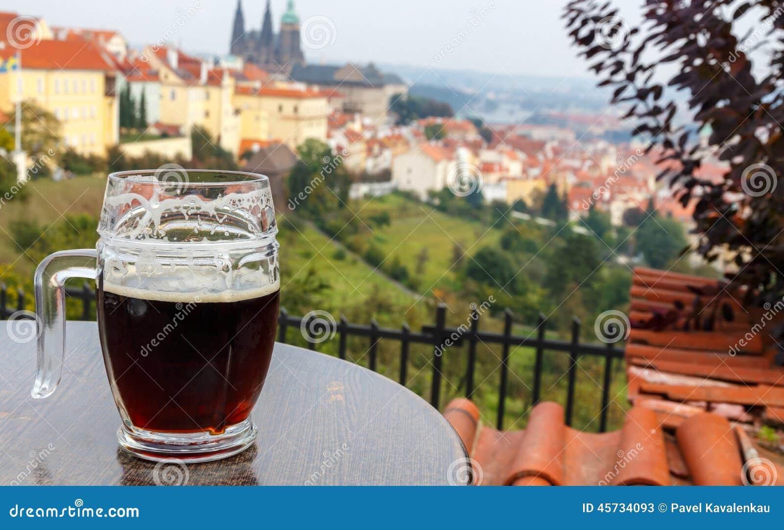 Cesky krumlov republiki czech miasta średniowieczny stary widok Praga Widok Praga kasztel od tarasu P