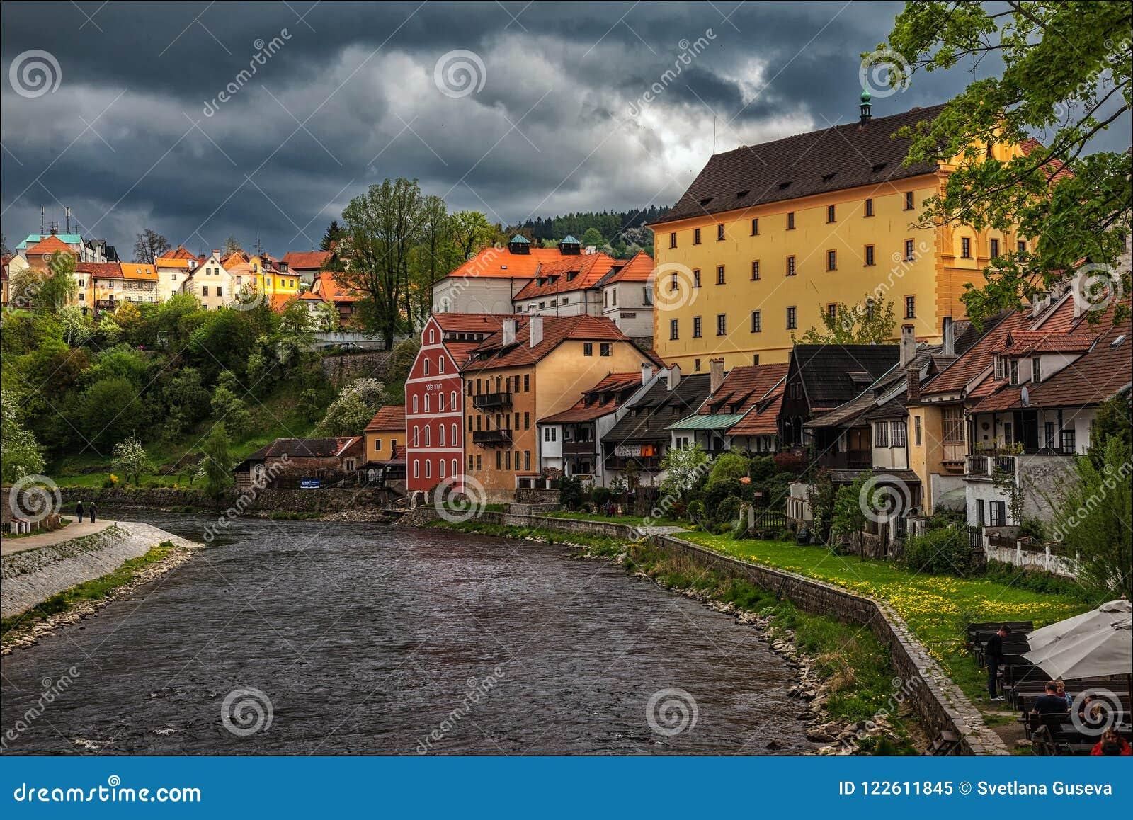 Cesky Krumlov Vista della città