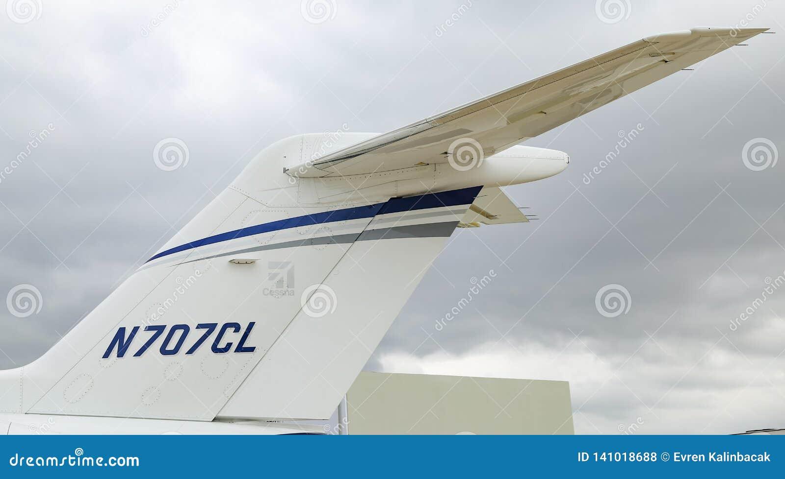 Cessna 700 Citation Longitude Istanbul Airshow Editorial Stock Photo