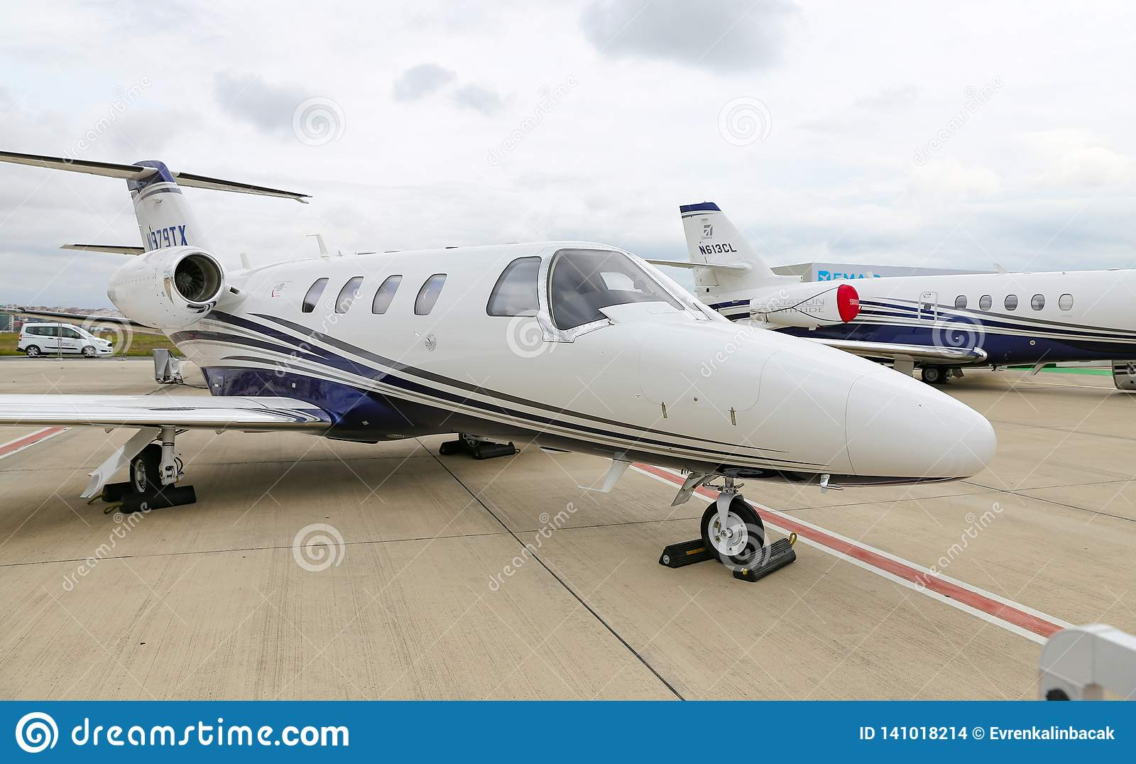 Cessna 525 In Istanbul Airshow Editorial Stock Image - Image of