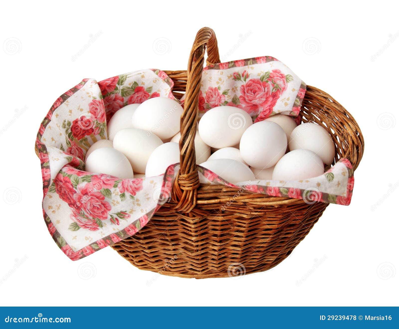 Download Cesta com ovos da galinha foto de stock. Imagem de cesta - 29239478