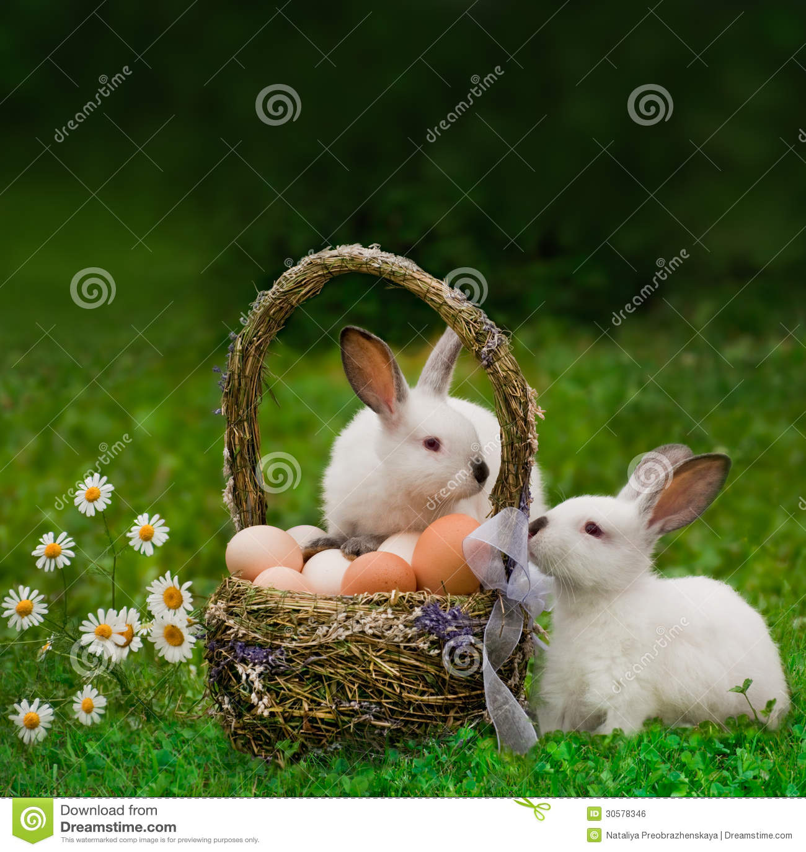 Cesta da Páscoa e o coelhinho da Páscoa