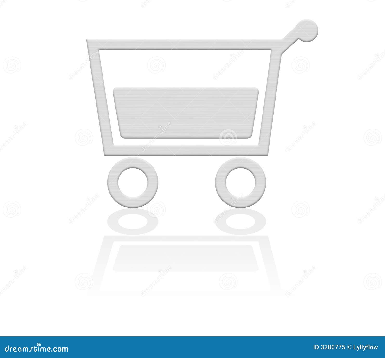 Cesta de compras, botón del carro