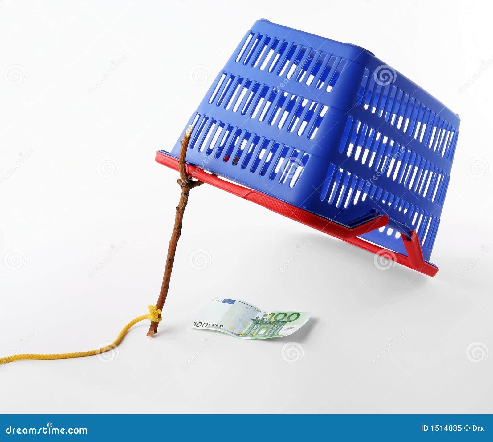 Cesta de compras - concepto del desvío del consumidor