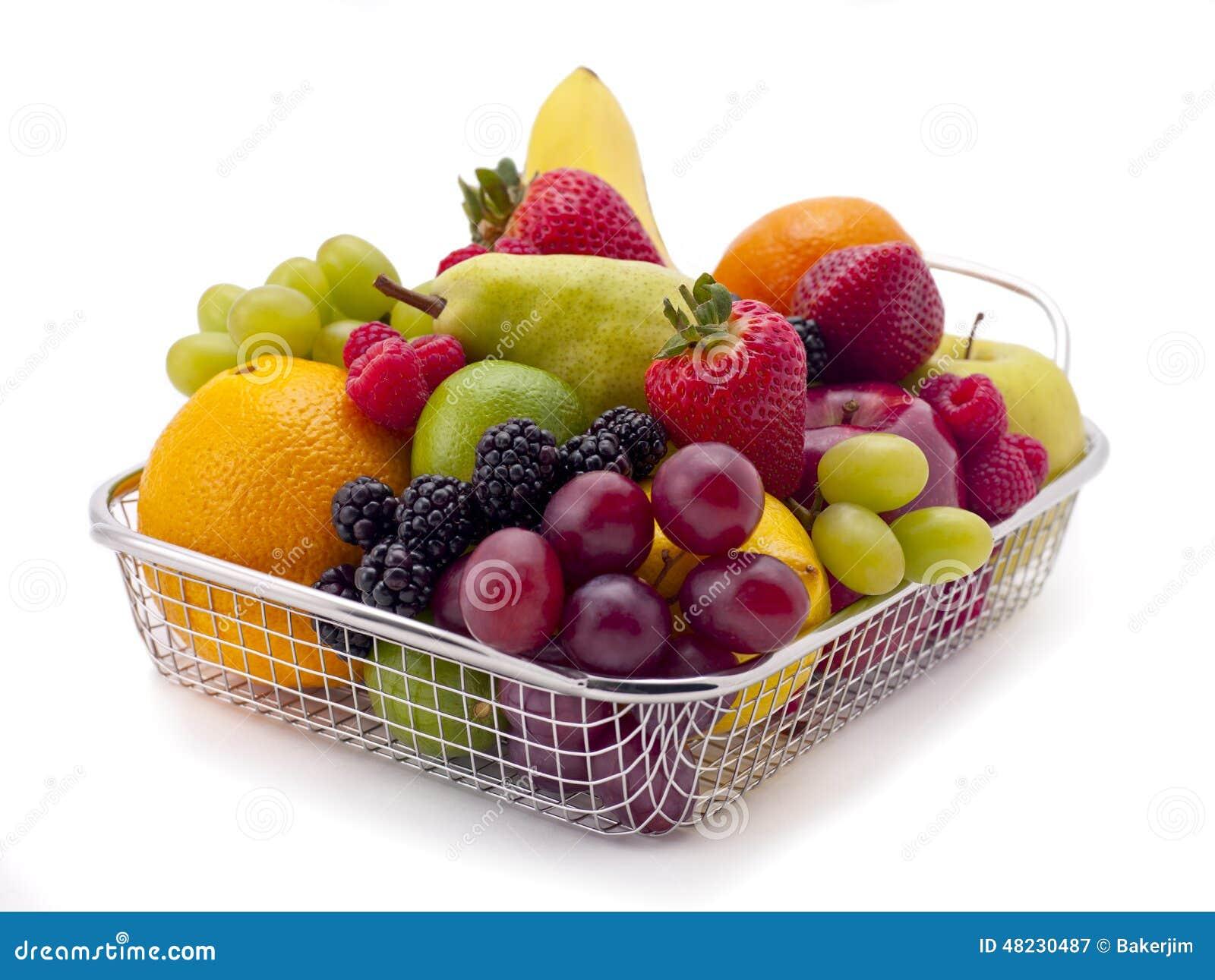Cesta de compras de fruta