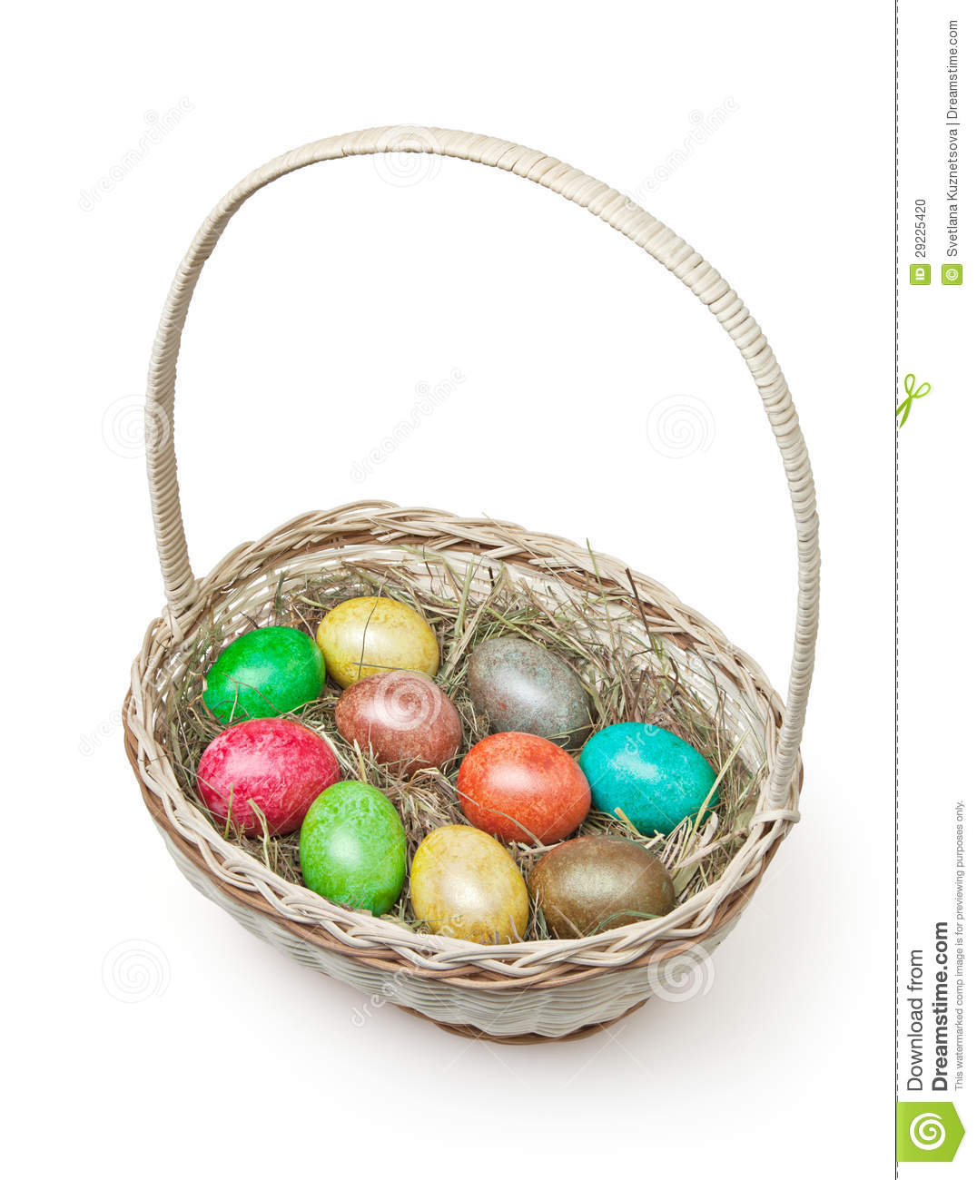 Download Cesta de Easter no branco foto de stock. Imagem de closeup - 29225420
