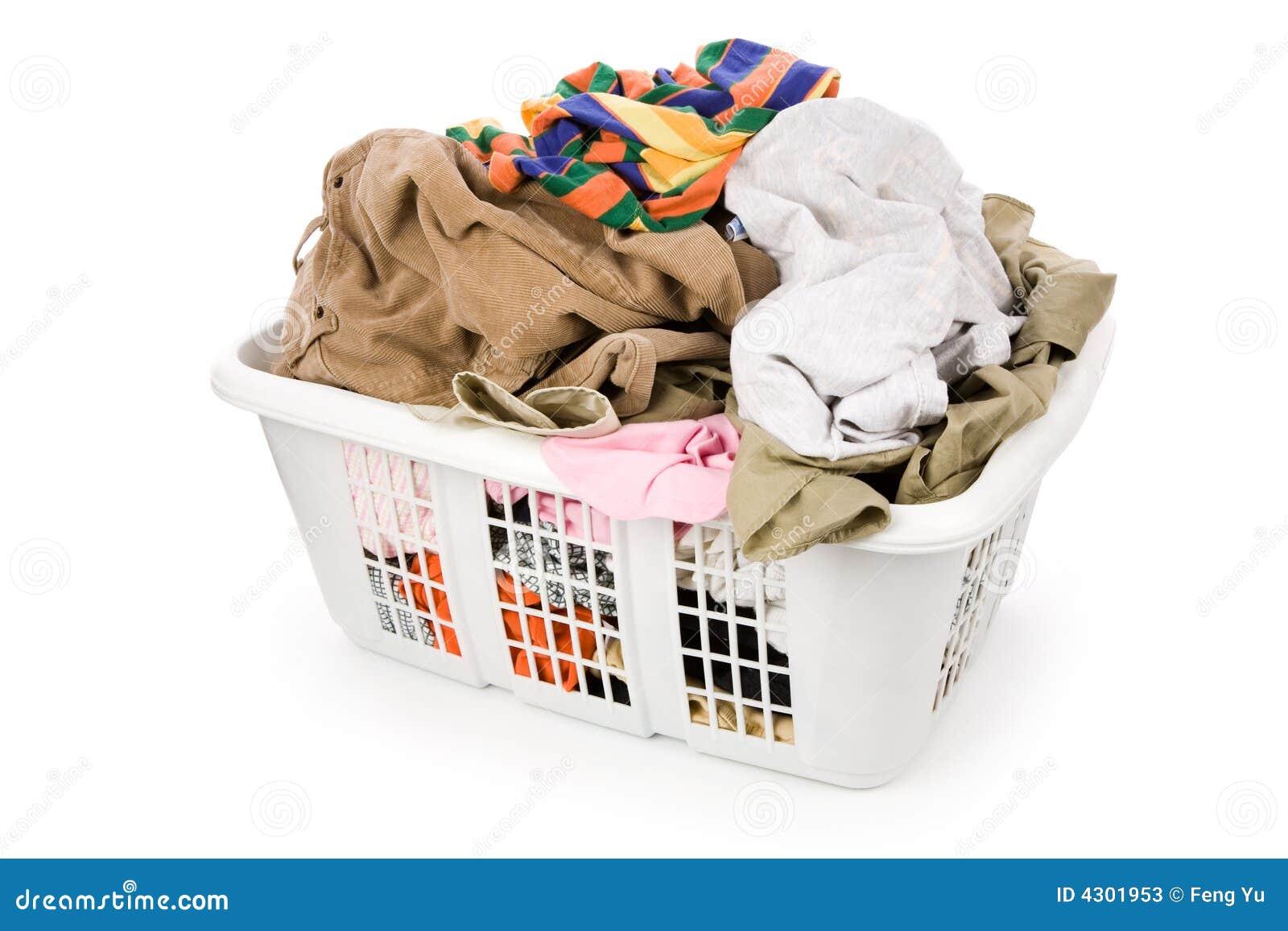 Cesta de lavadero y ropa sucia imagen de archivo imagen - Cestos para ropa sucia ...