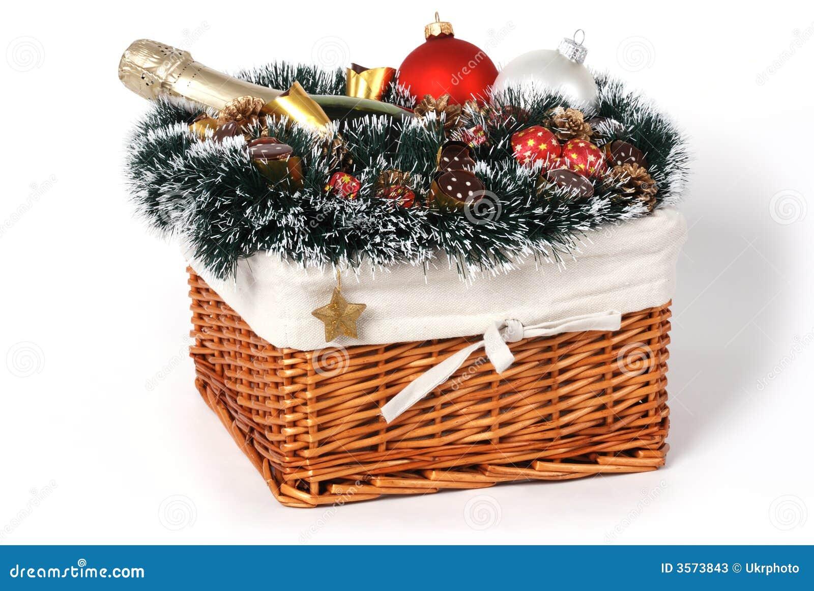 Cesta del regalo de la Navidad