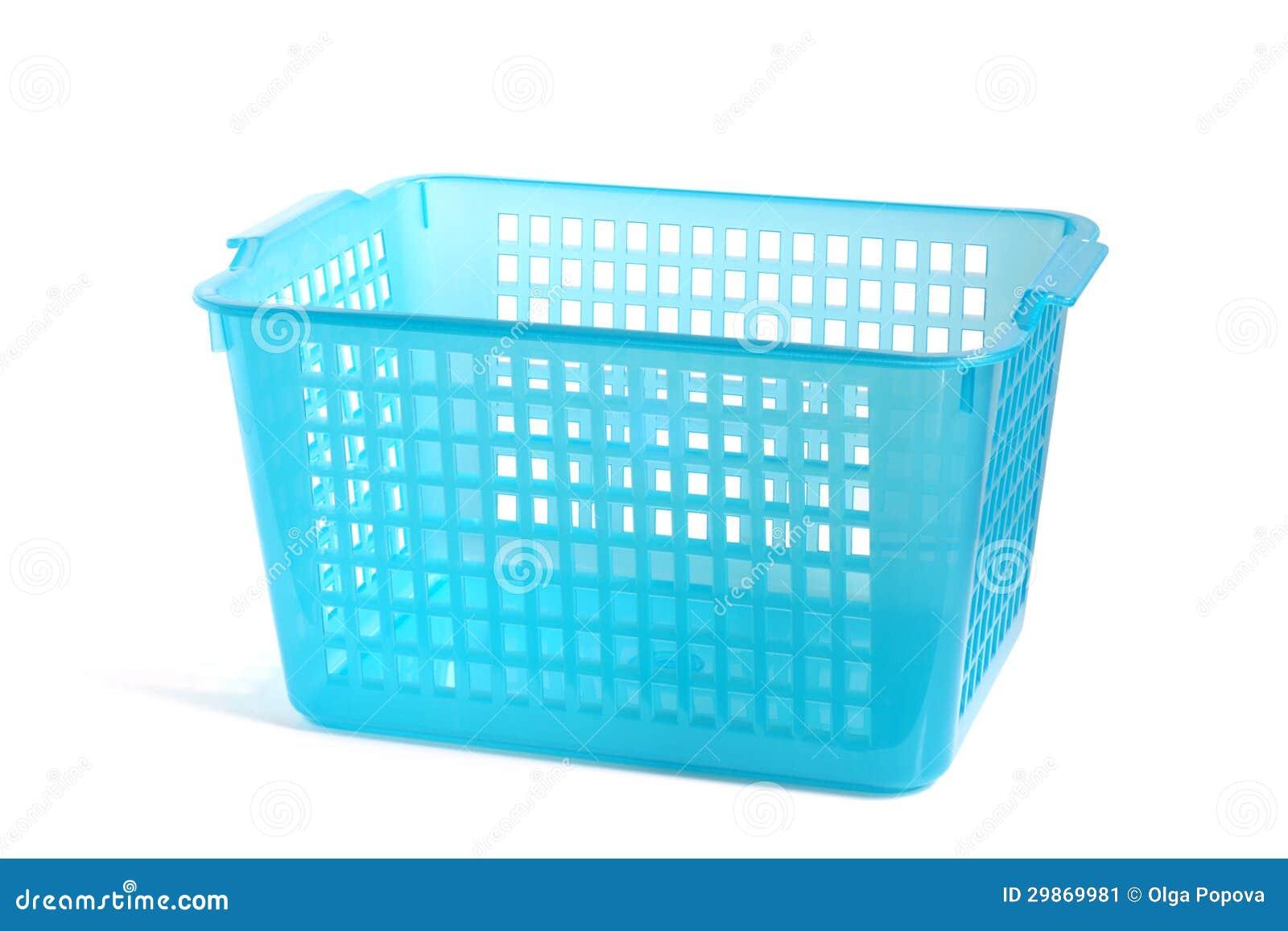 Cesta plástica azul