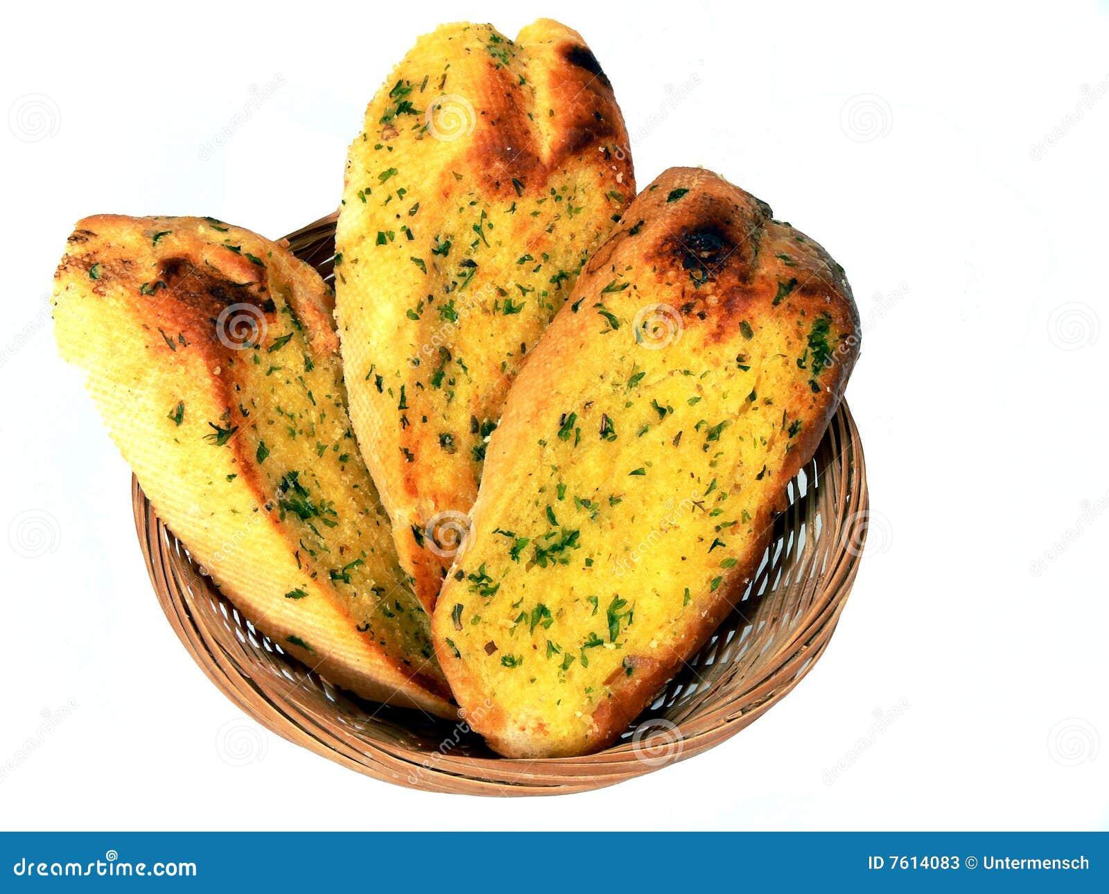 Cestino del pane di aglio