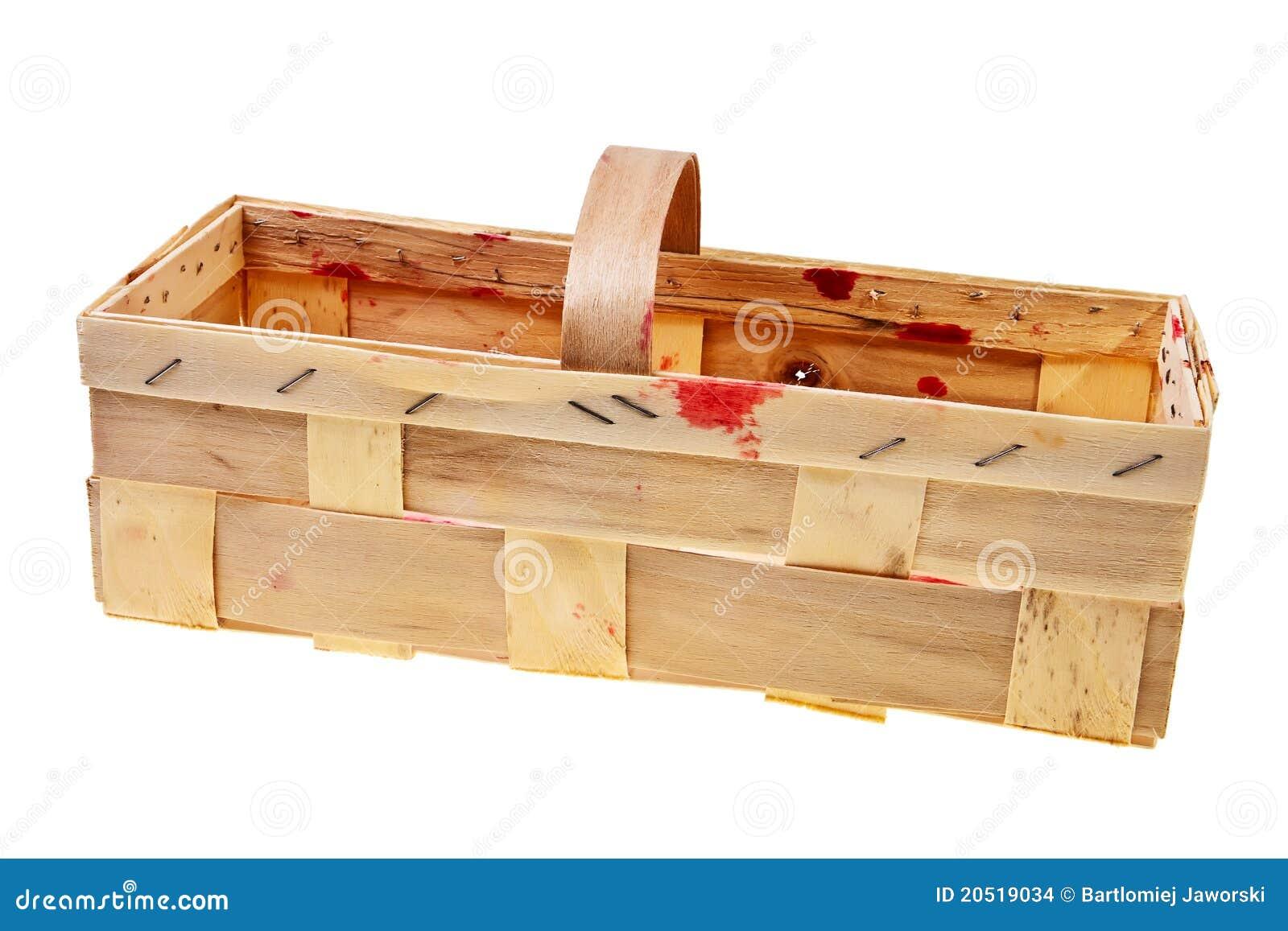 Cestino Di Legno Vuoto Fotografia Stock Immagine Di Yellow 20519034