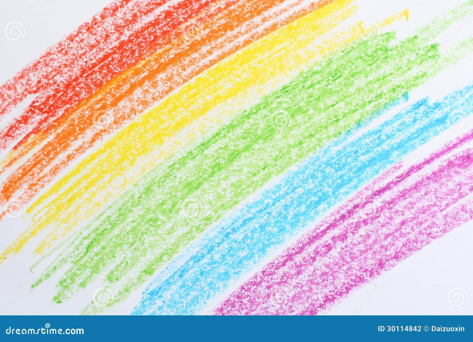Couleurs de crayon photo stock image du en enfants - Dessin arc en ciel ...