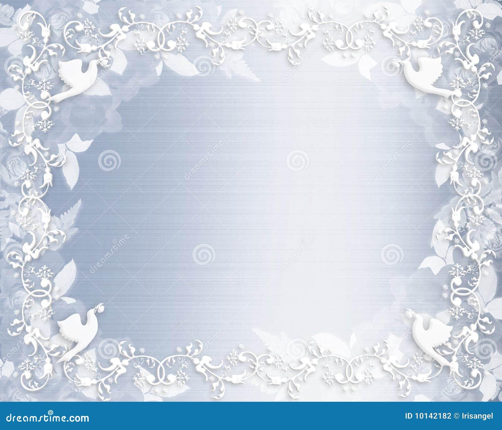 Cetim floral do azul da beira do convite do casamento