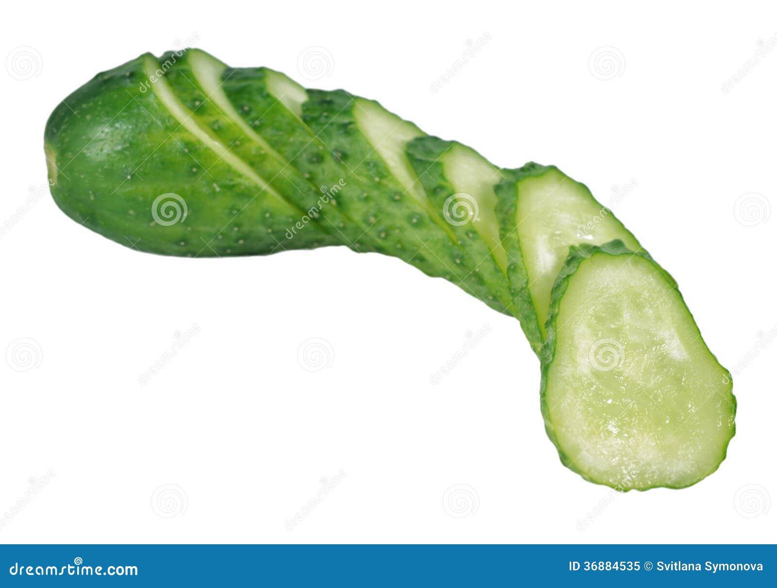 Download Cetriolo verde affettato immagine stock. Immagine di cetriolo - 36884535