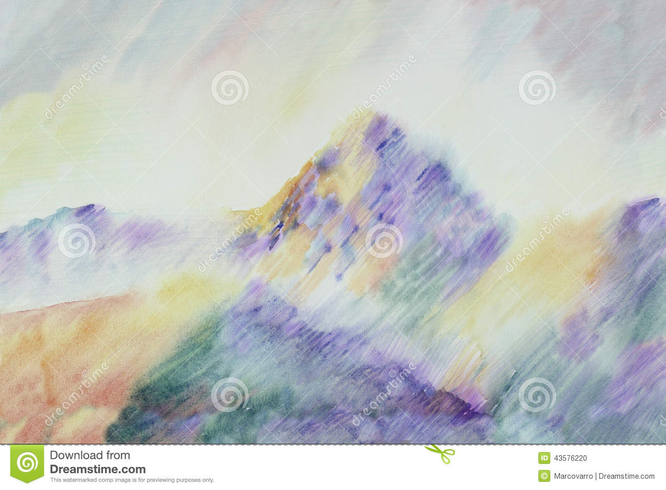Cezanne like Mountain