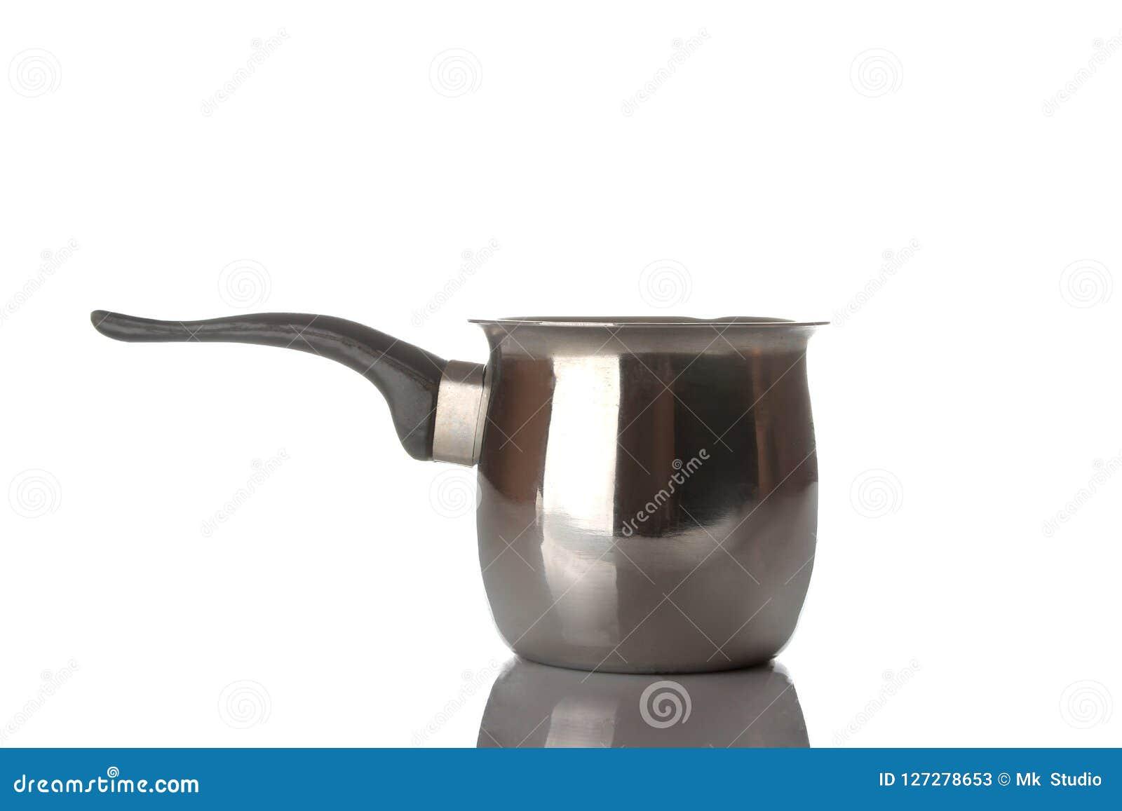 Cezve εξαρτήματα για τον καφέ συγκόλλησης απομονωμένο στο λευκό υπόβαθρο