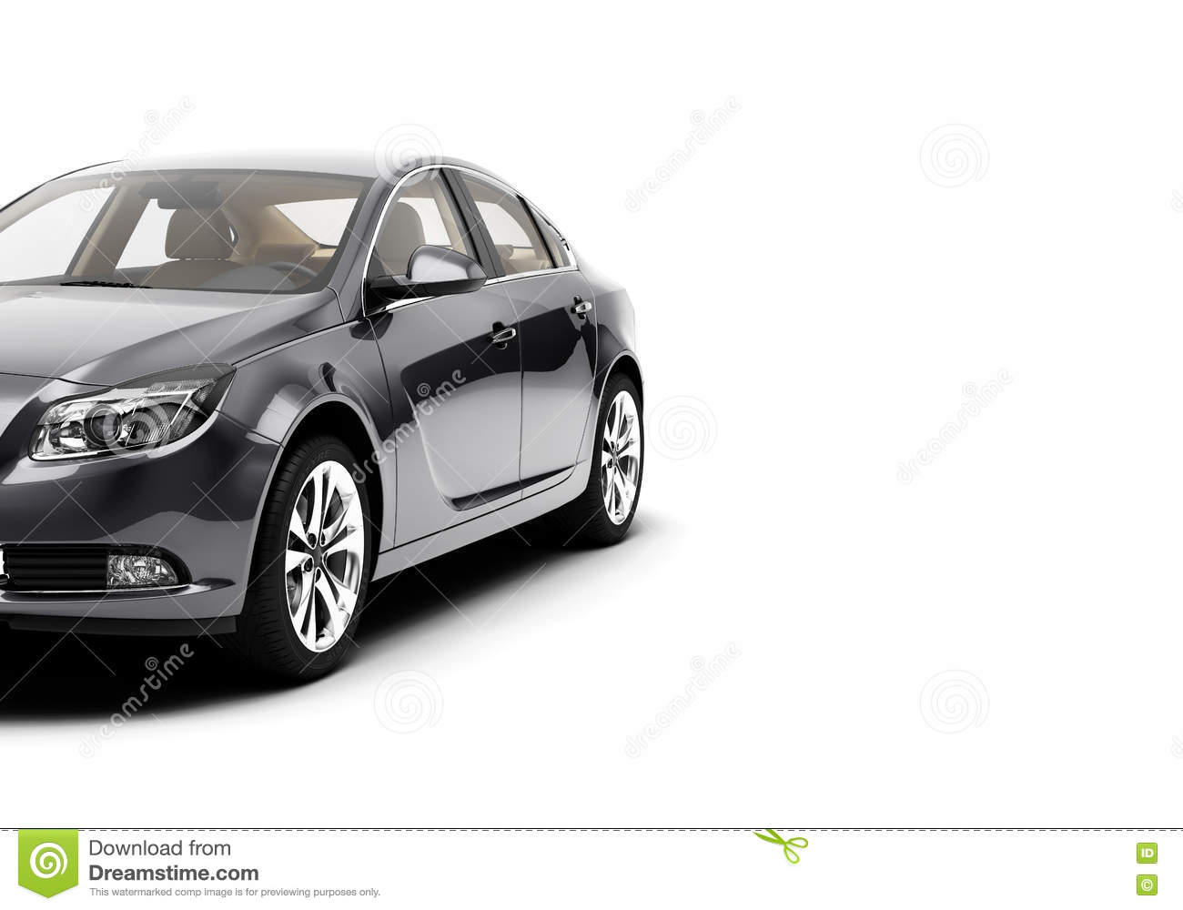 CG 3d Render Of Generic Luxury Sport Car Isolated On A White ...