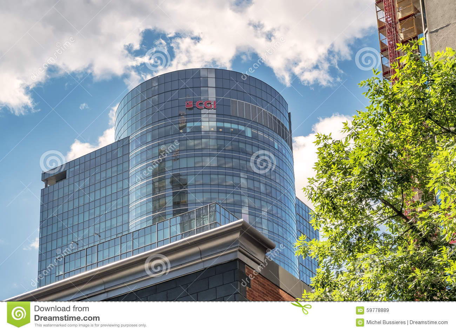 CGI Building Montreal Editorial Photo - Image: 79168941