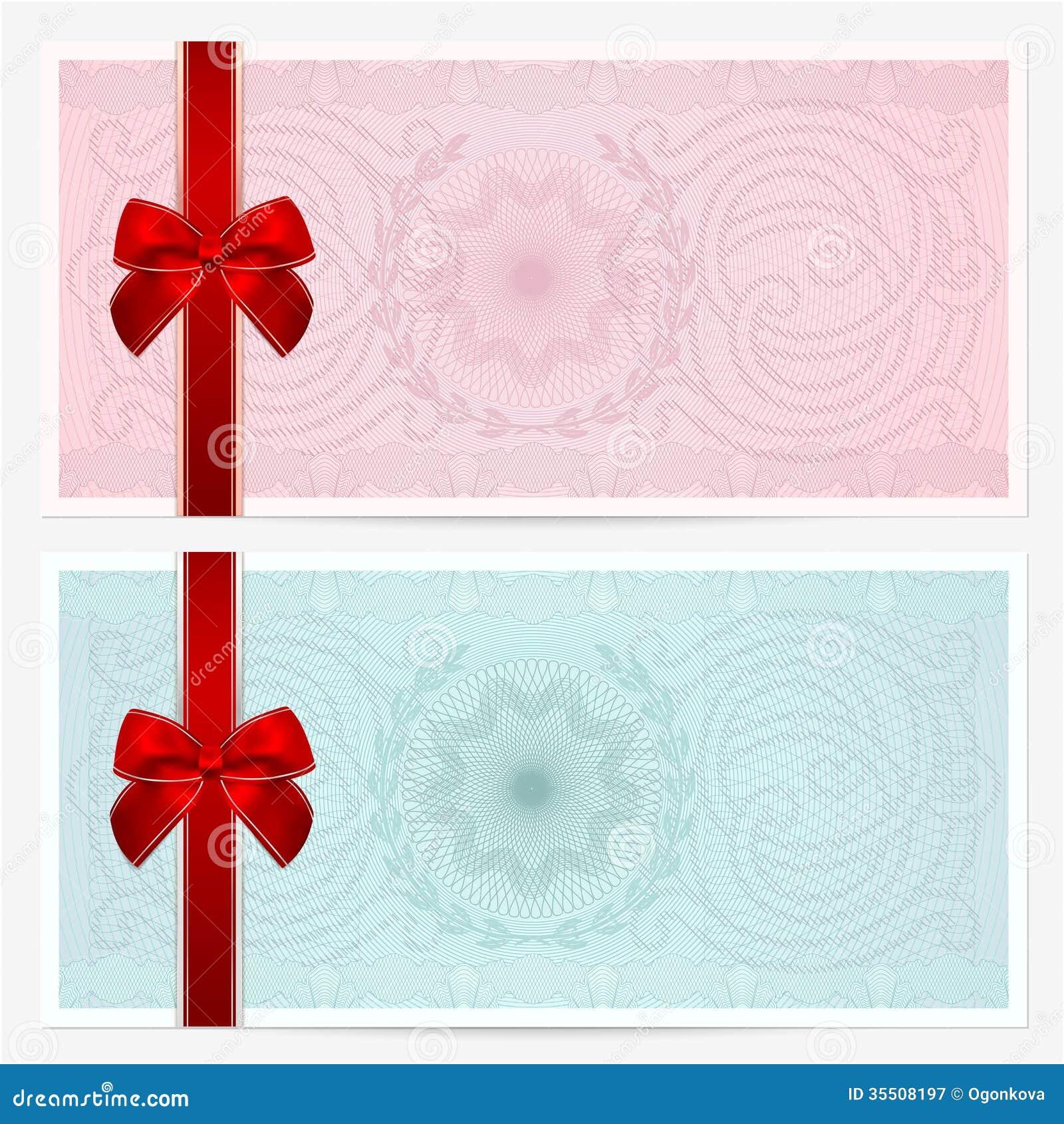 Gut gemocht Chèque-cadeaux (bon, Bon). Arc, Guilloche Photographie stock libre  AF53
