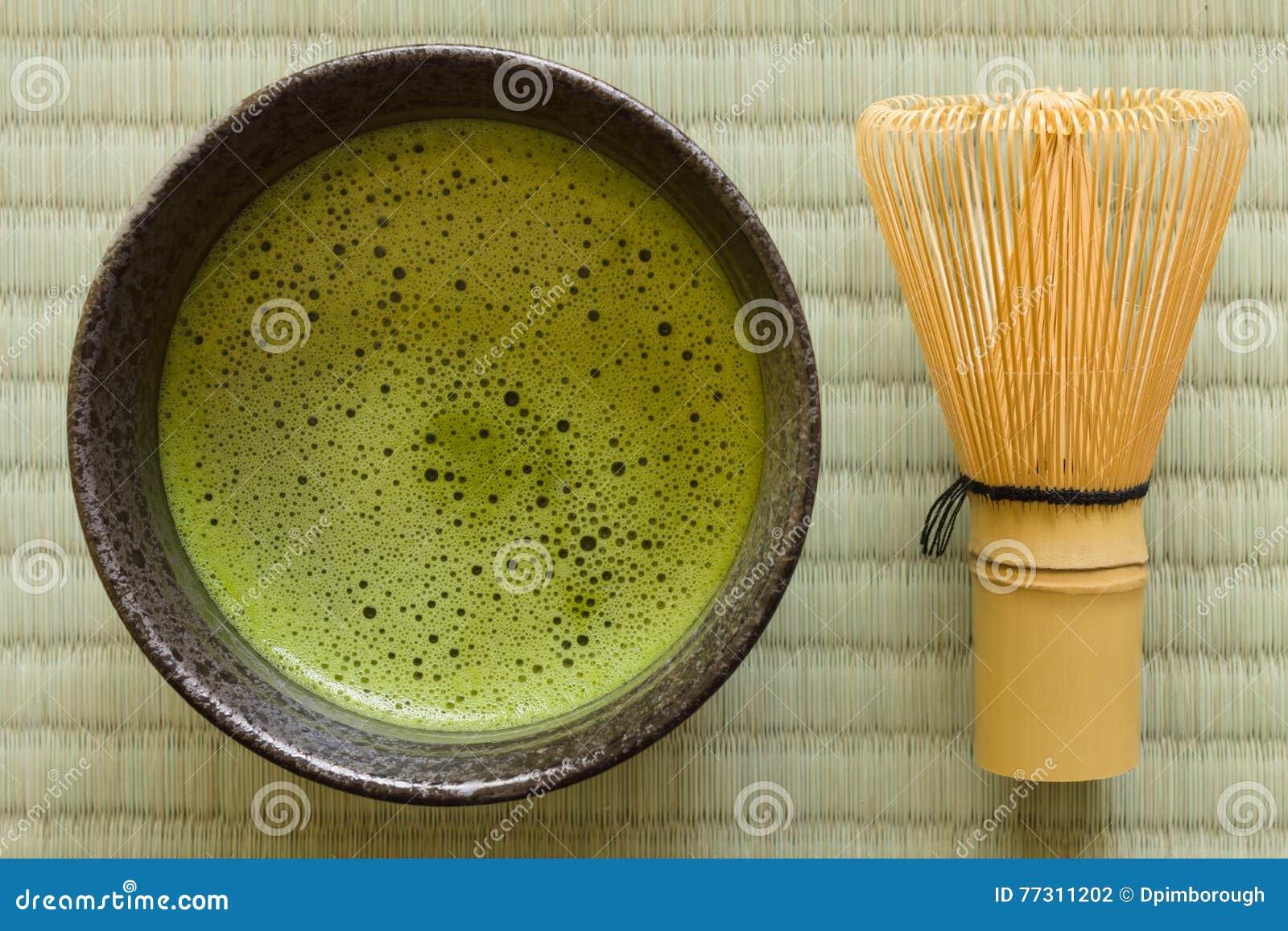 Chá de Matcha do japonês