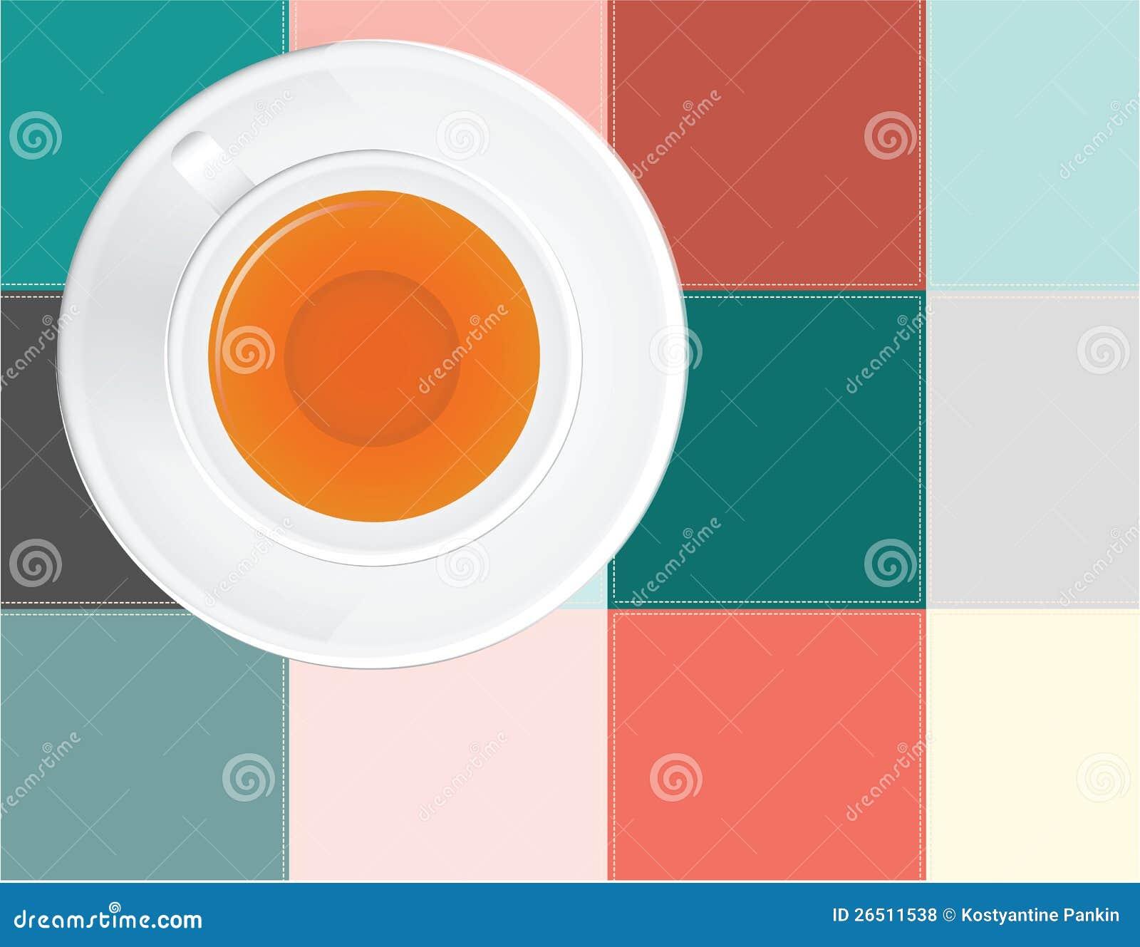 Chá em um guardanapo