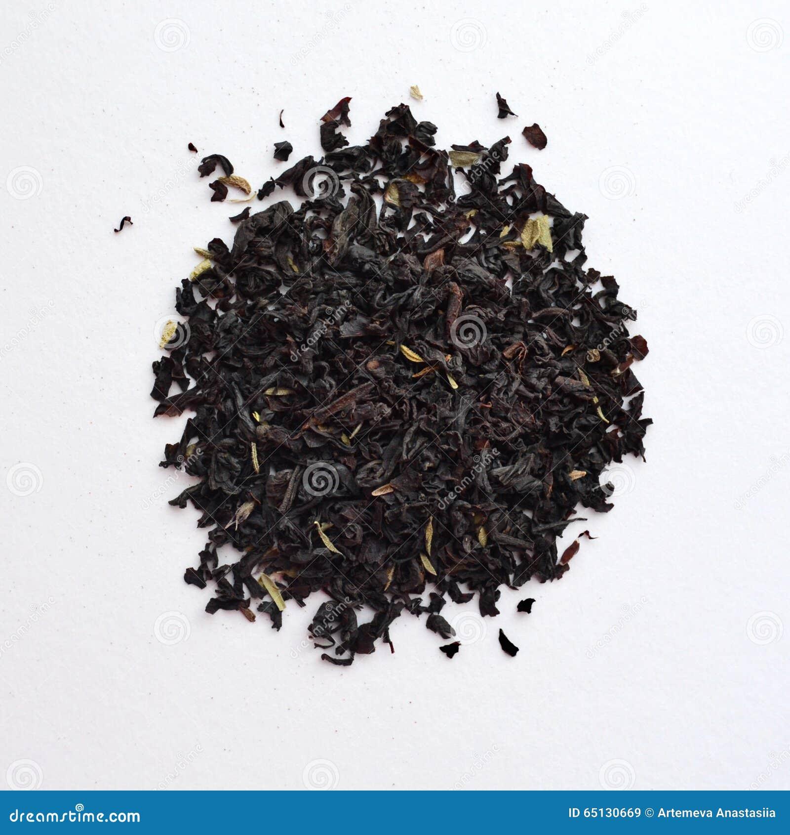 Chá preto com tomilho
