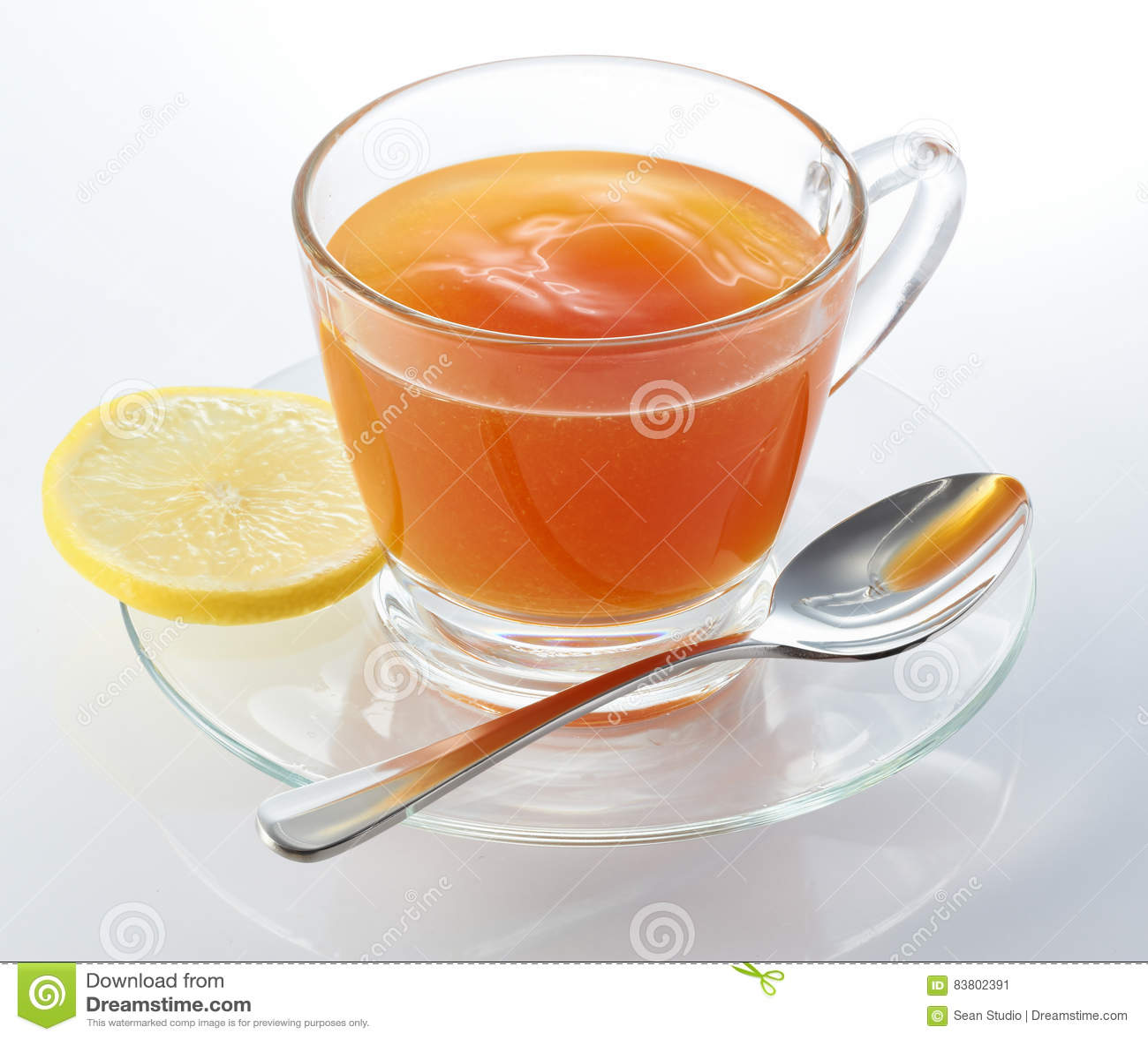 Chá quente do limão