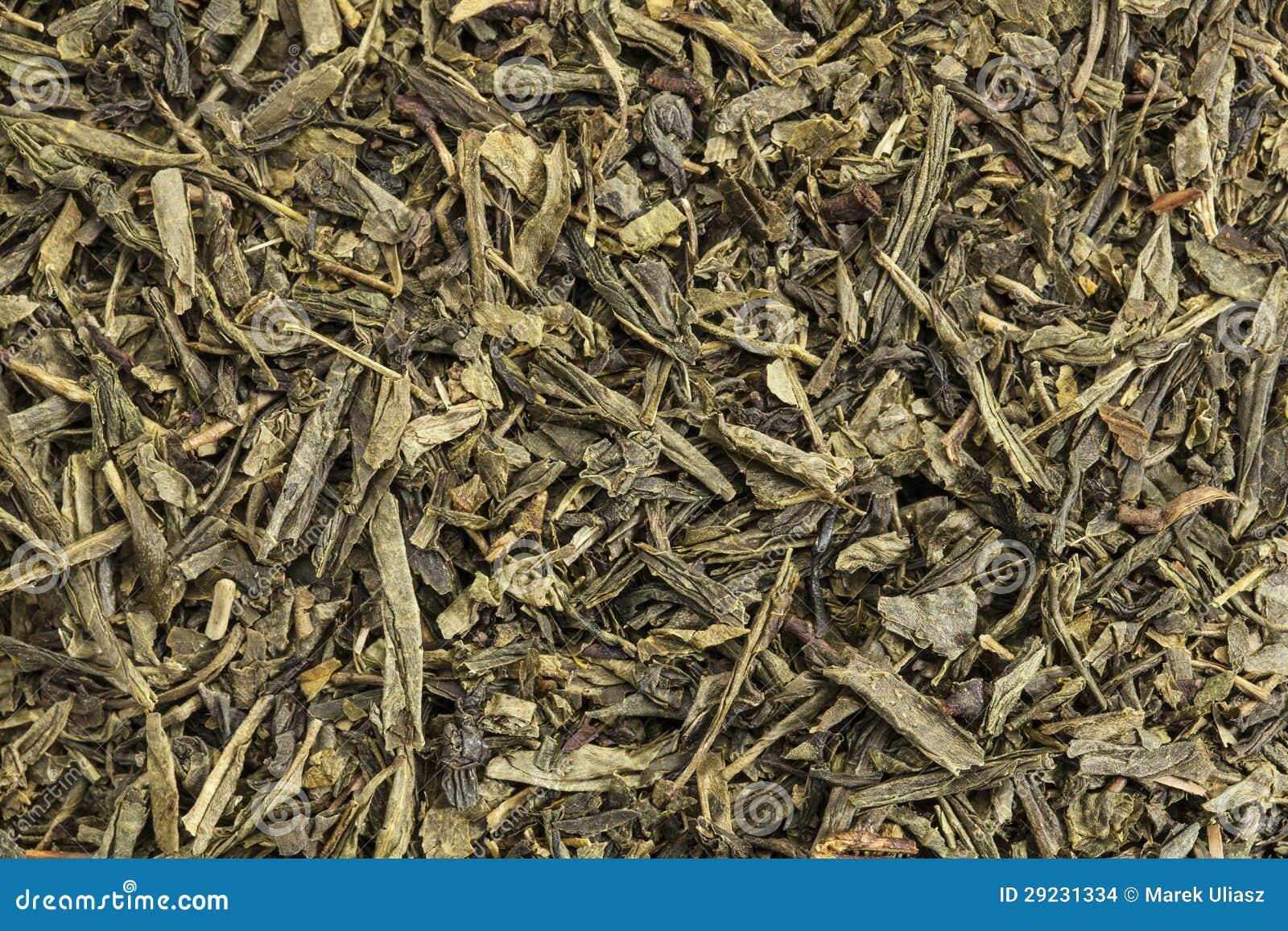 Download Chá verde de Sencha foto de stock. Imagem de macro, seco - 29231334