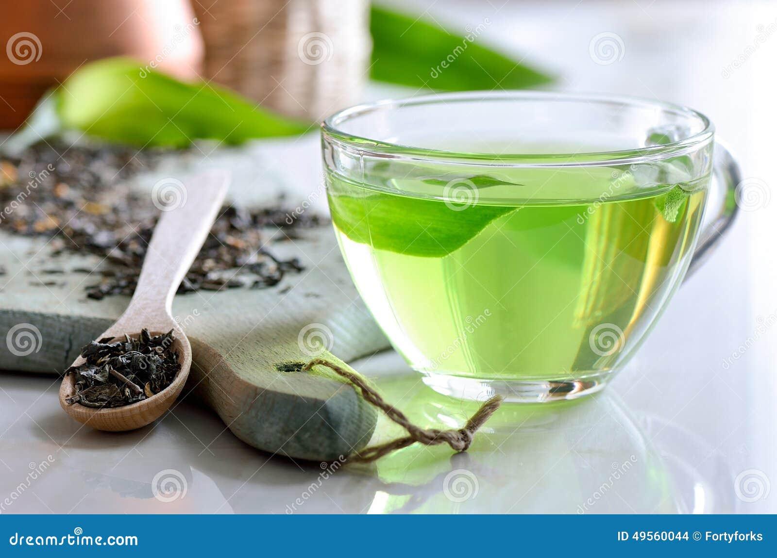 Chá verde dos termas
