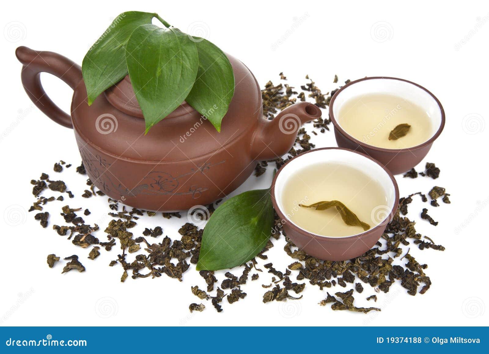 Chá verde isolado
