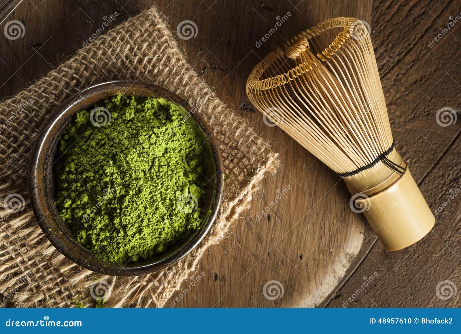 Chá verde orgânico cru de Matcha
