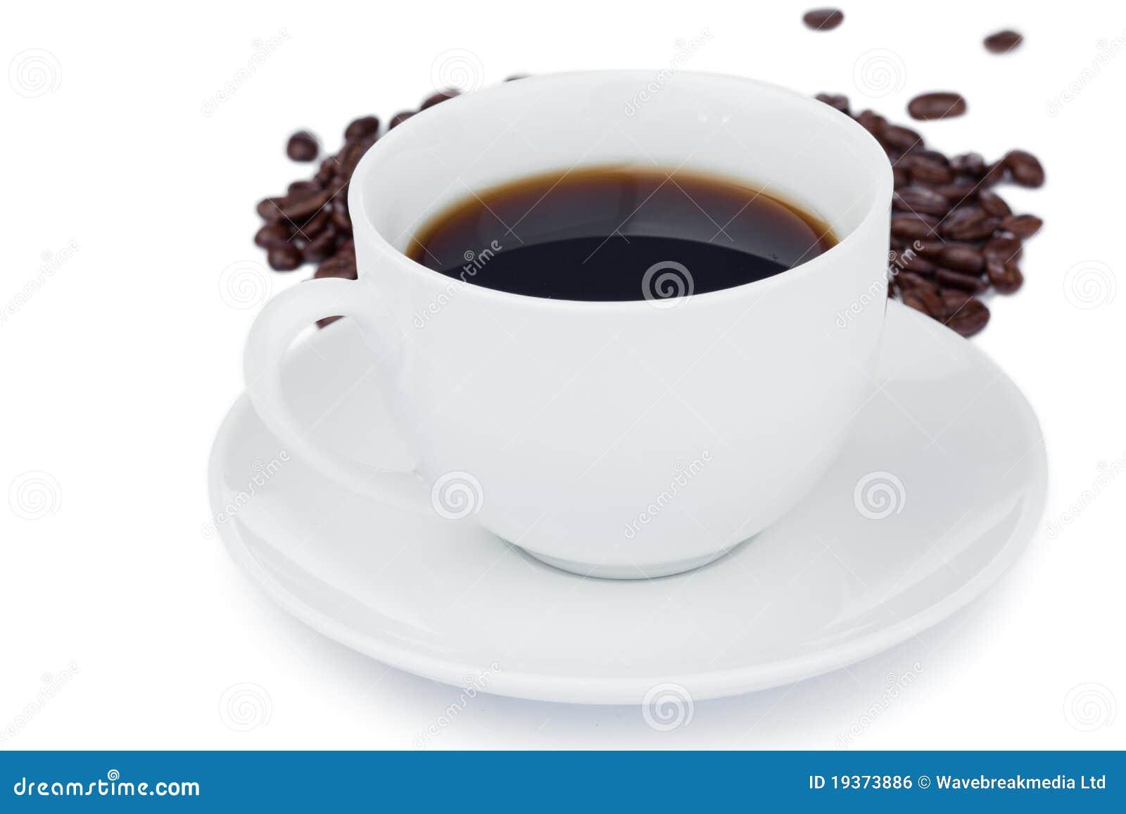 Chávena de café morna