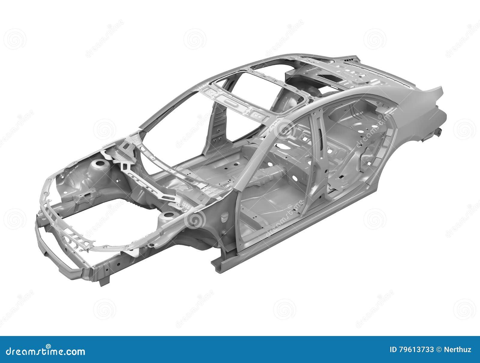 ch ssis de voiture d 39 unibody image stock image du fuselage machines 79613733. Black Bedroom Furniture Sets. Home Design Ideas