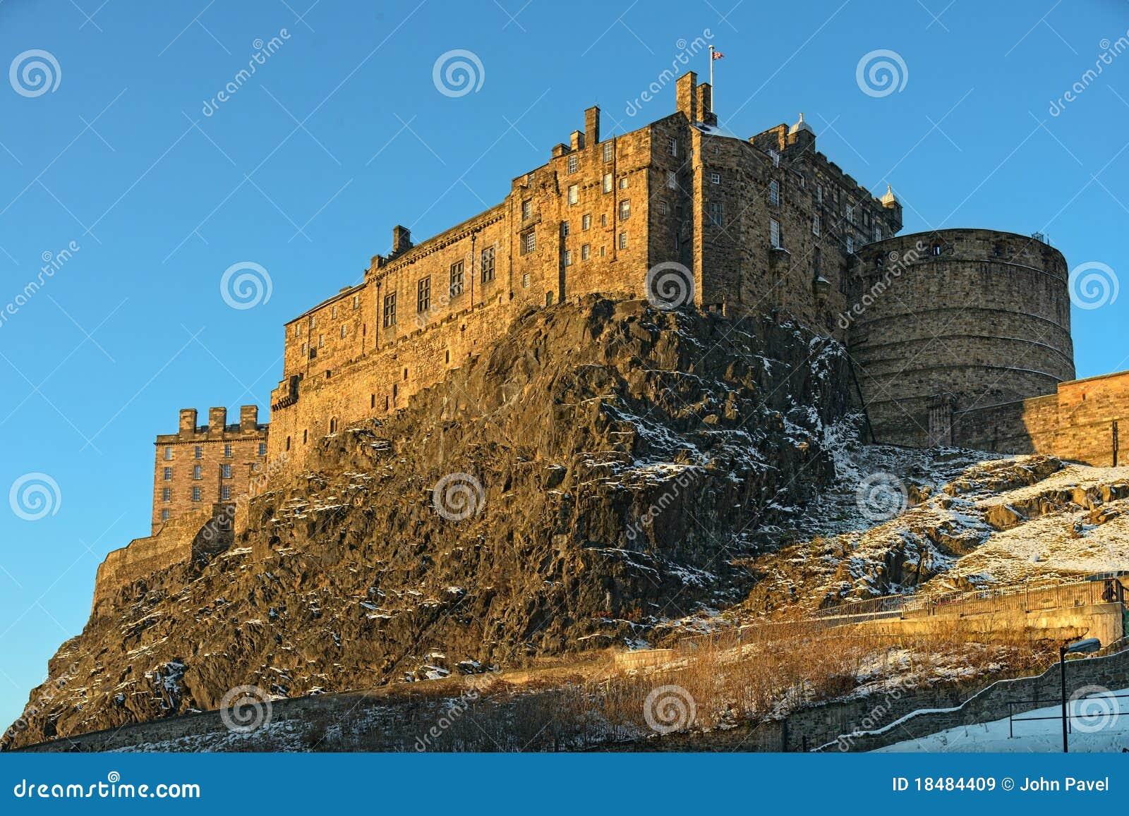 Château d Edimbourg, Ecosse, R-U, en lumière de l hiver