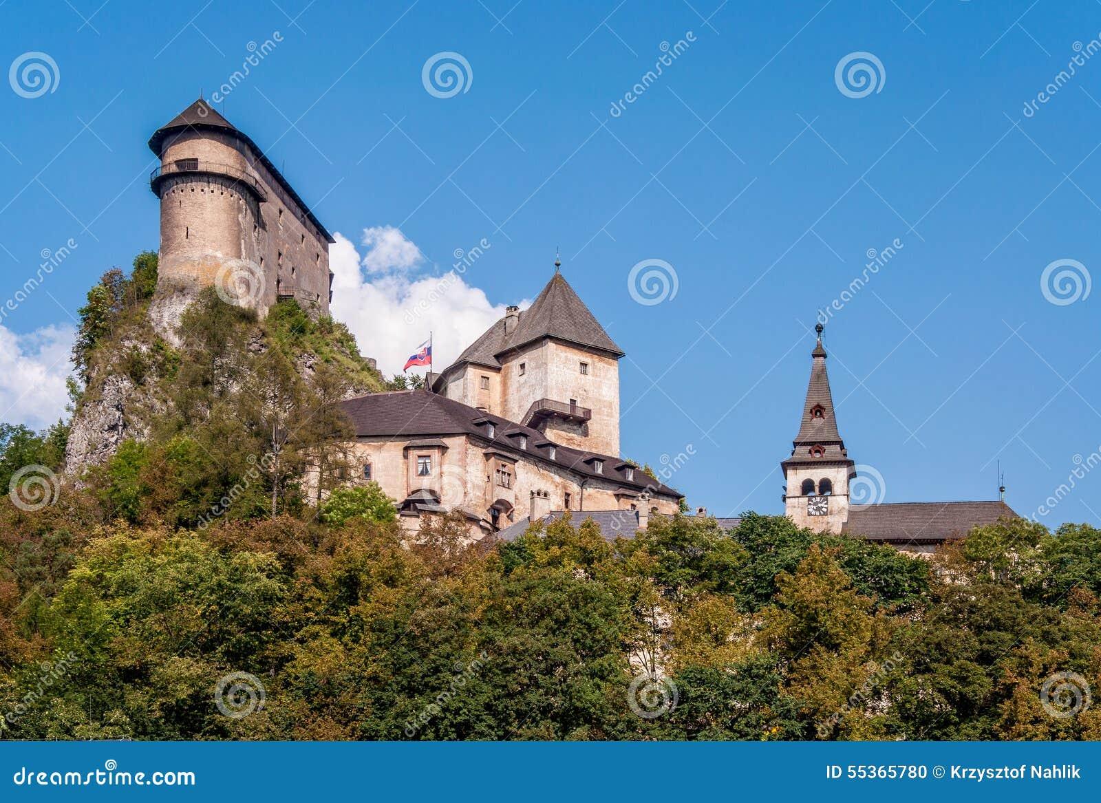 Château d Oravsky en Slovaquie