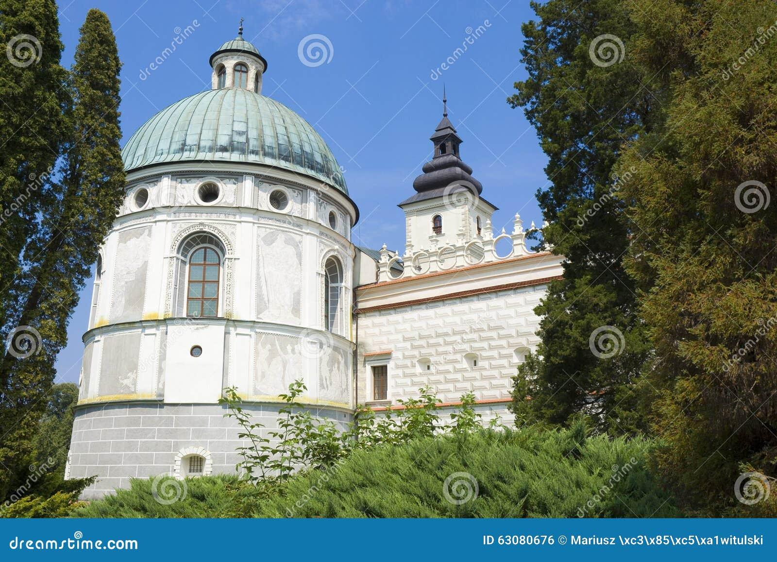 Download Château dans Krasiczyn photo stock. Image du célèbre - 63080676