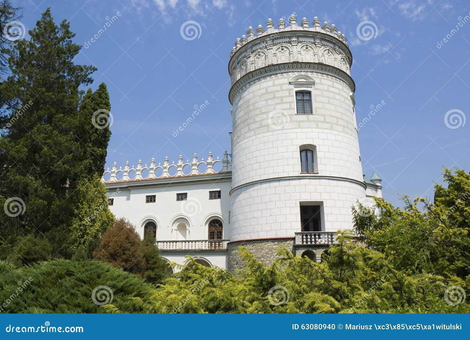 Download Château dans Krasiczyn photo stock. Image du histoire - 63080940