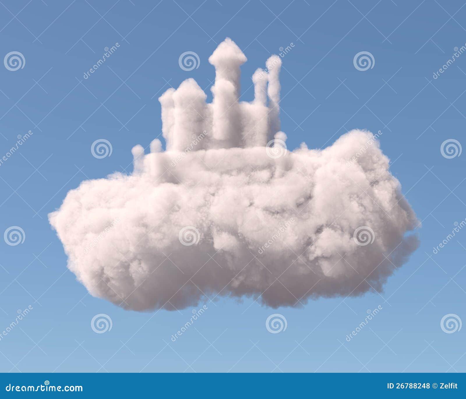 Un Chateau Dans Les Nuages château dans les nuages illustration stock. illustration du