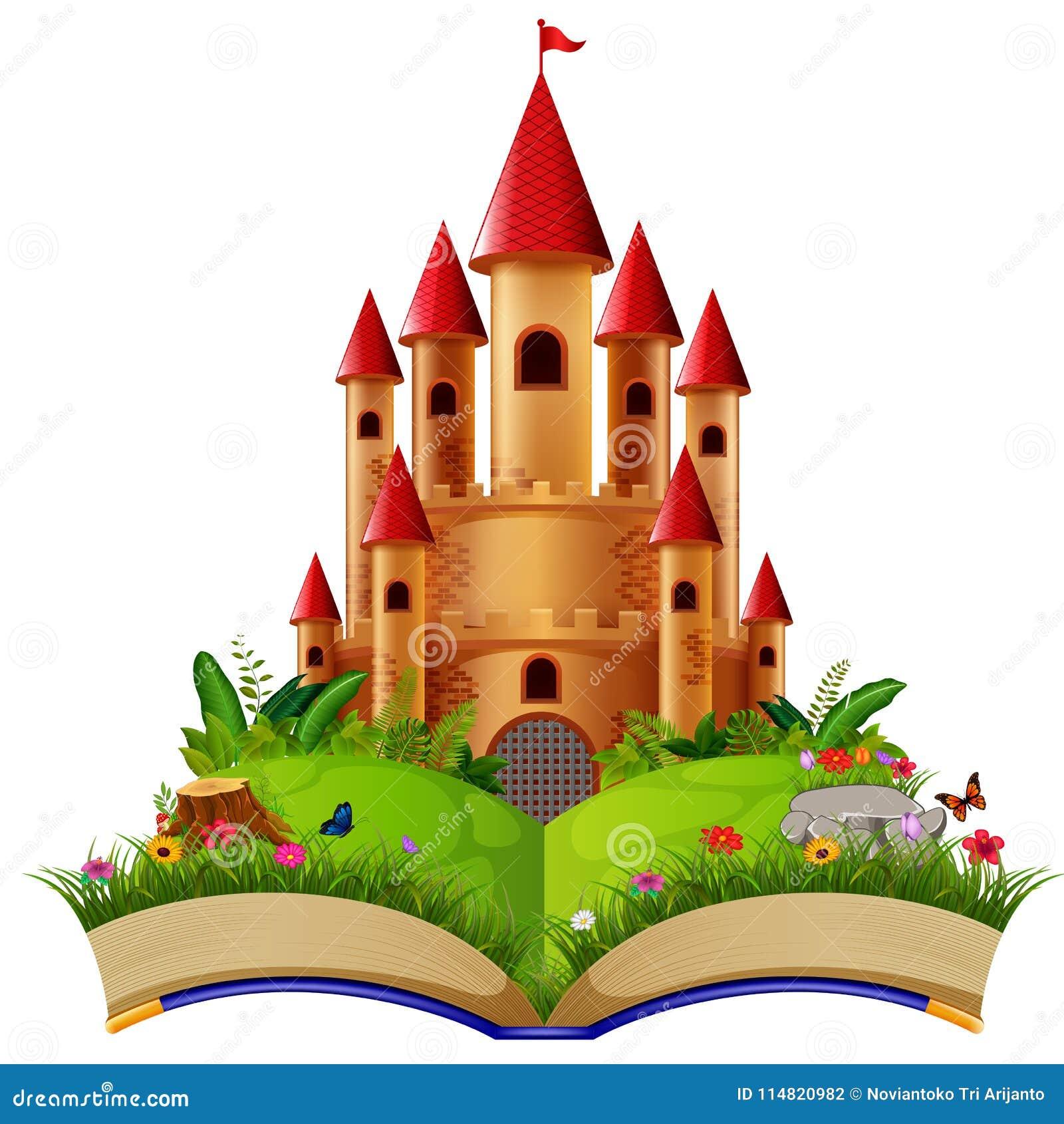 Château dans livre de contes