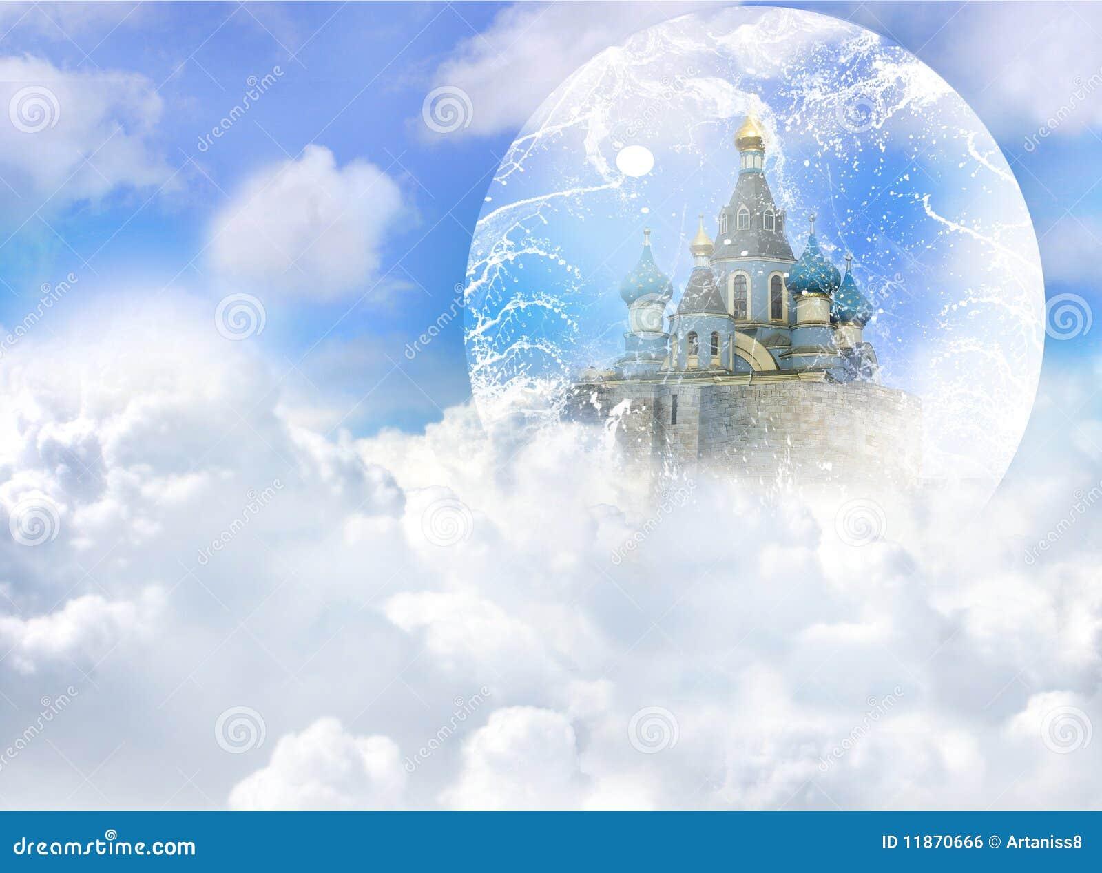 Un Chateau Dans Les Nuages château de nuage illustration stock. illustration du