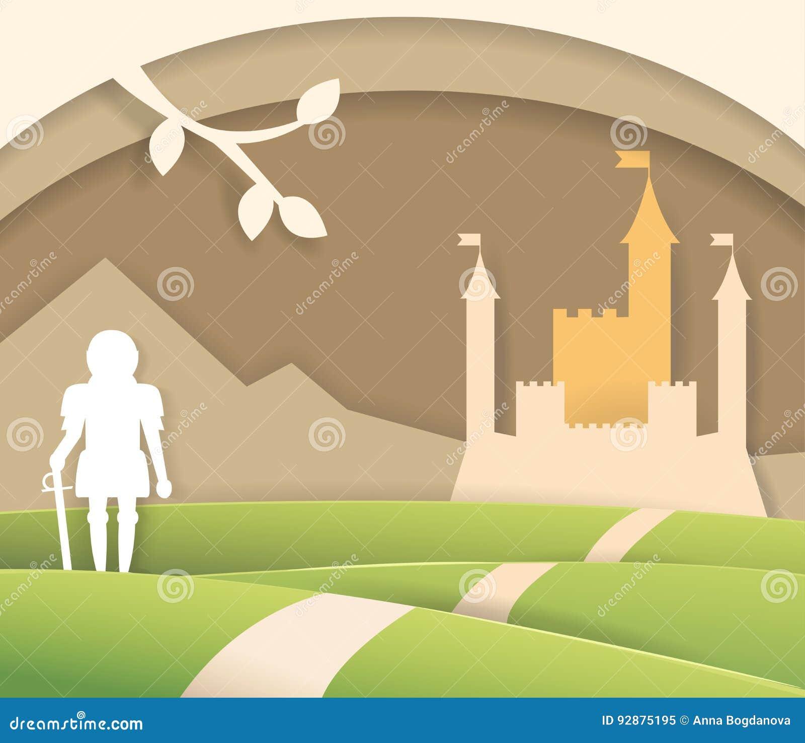 Château de papier de conte de fées