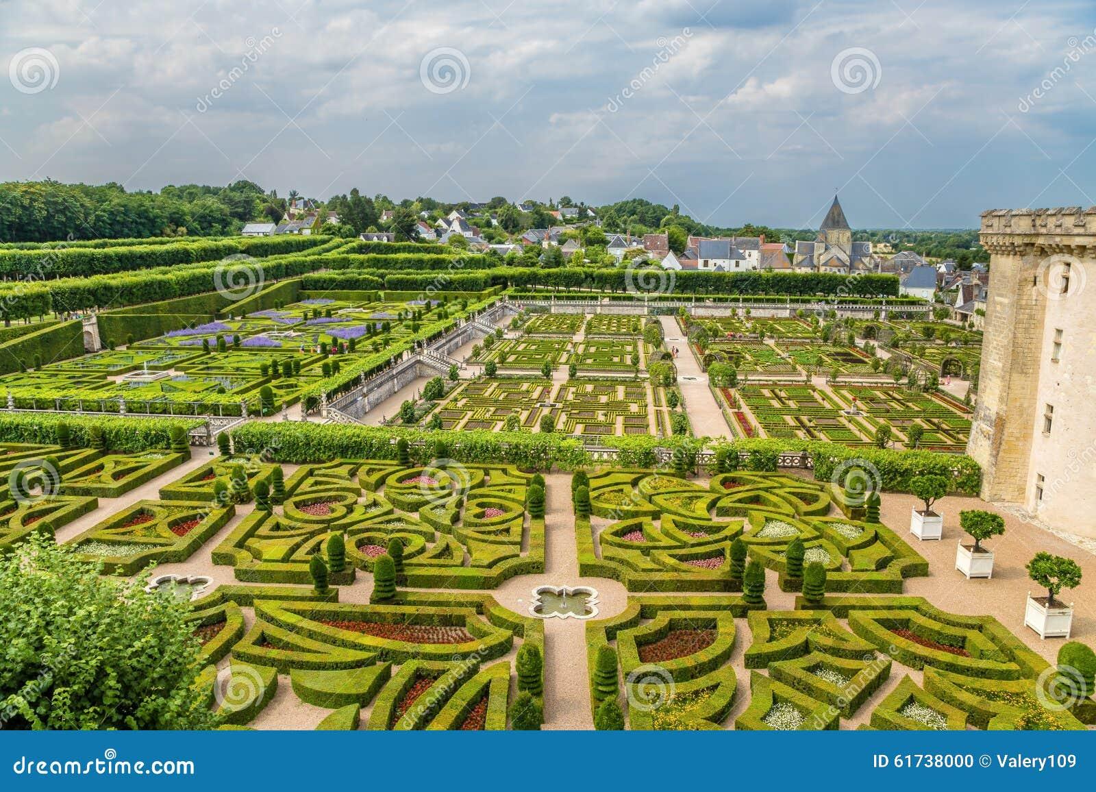 Chateau De Villandry France Donjon And Gardens Editorial Image