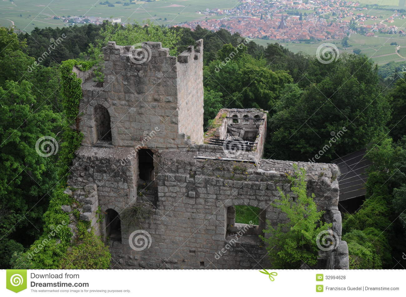 Bernstein Castle Locally Known As Chteau Du Is A Ruined Above The Village Of Dambach La Ville In France One Oldest